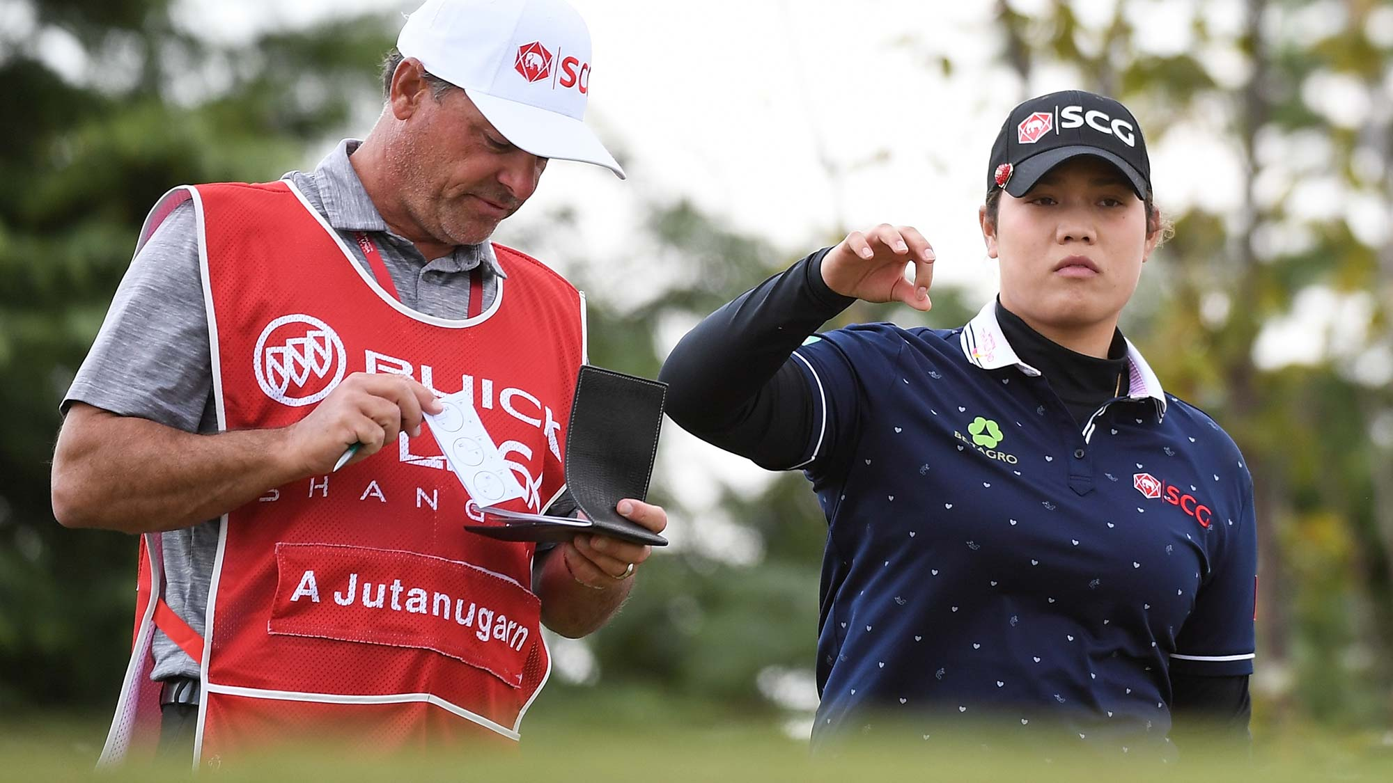 Ariya Jutanugarn of Thailand plays a shot during the second round of the Buick LPGA Shanghai