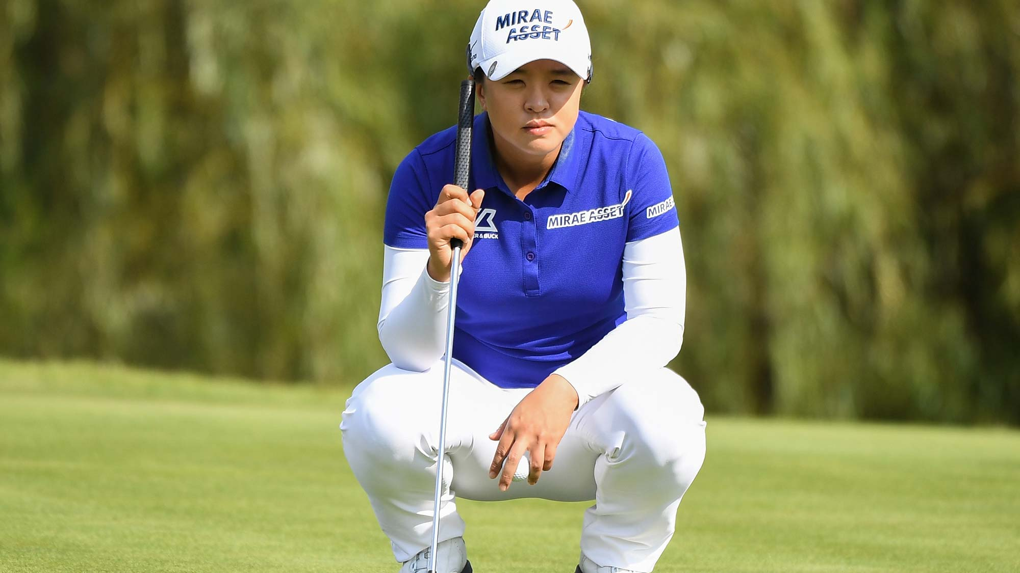 Sei Young Kim of South Korea plays a shot during the second round of the Buick LPGA Shanghai