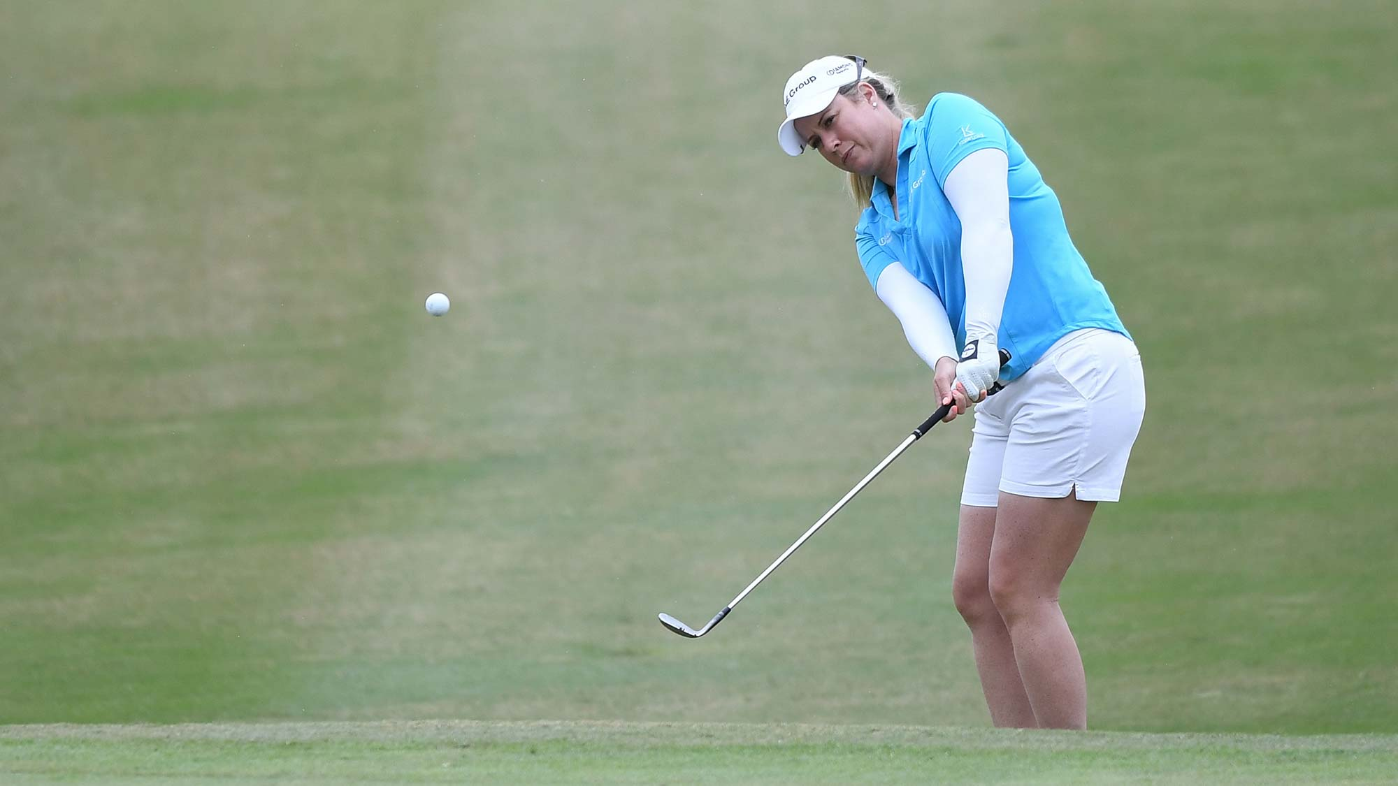 Brittany Lincicome of the United States plays a shot during the third round of the Buick LPGA Shanghai