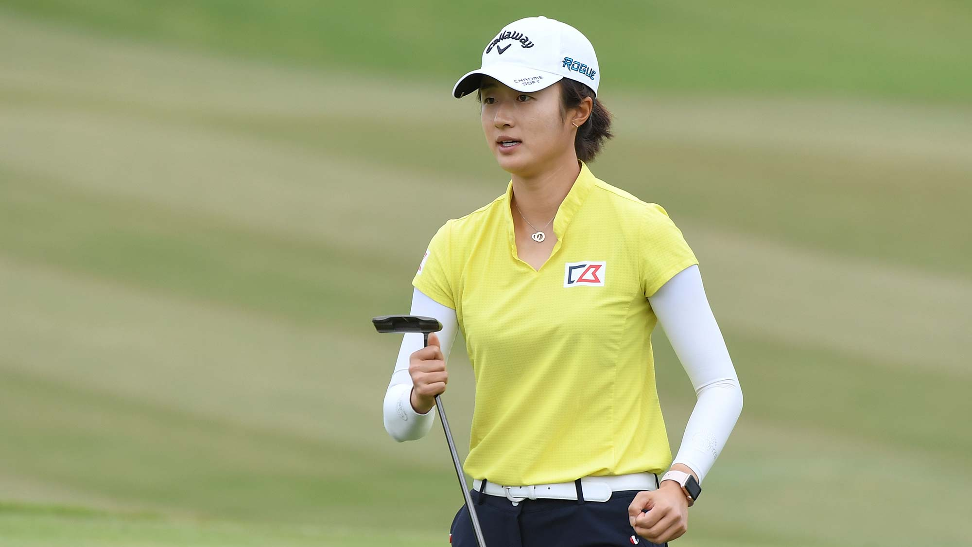 Yu Liu of China plays a shot during the third round of the Buick LPGA Shanghai