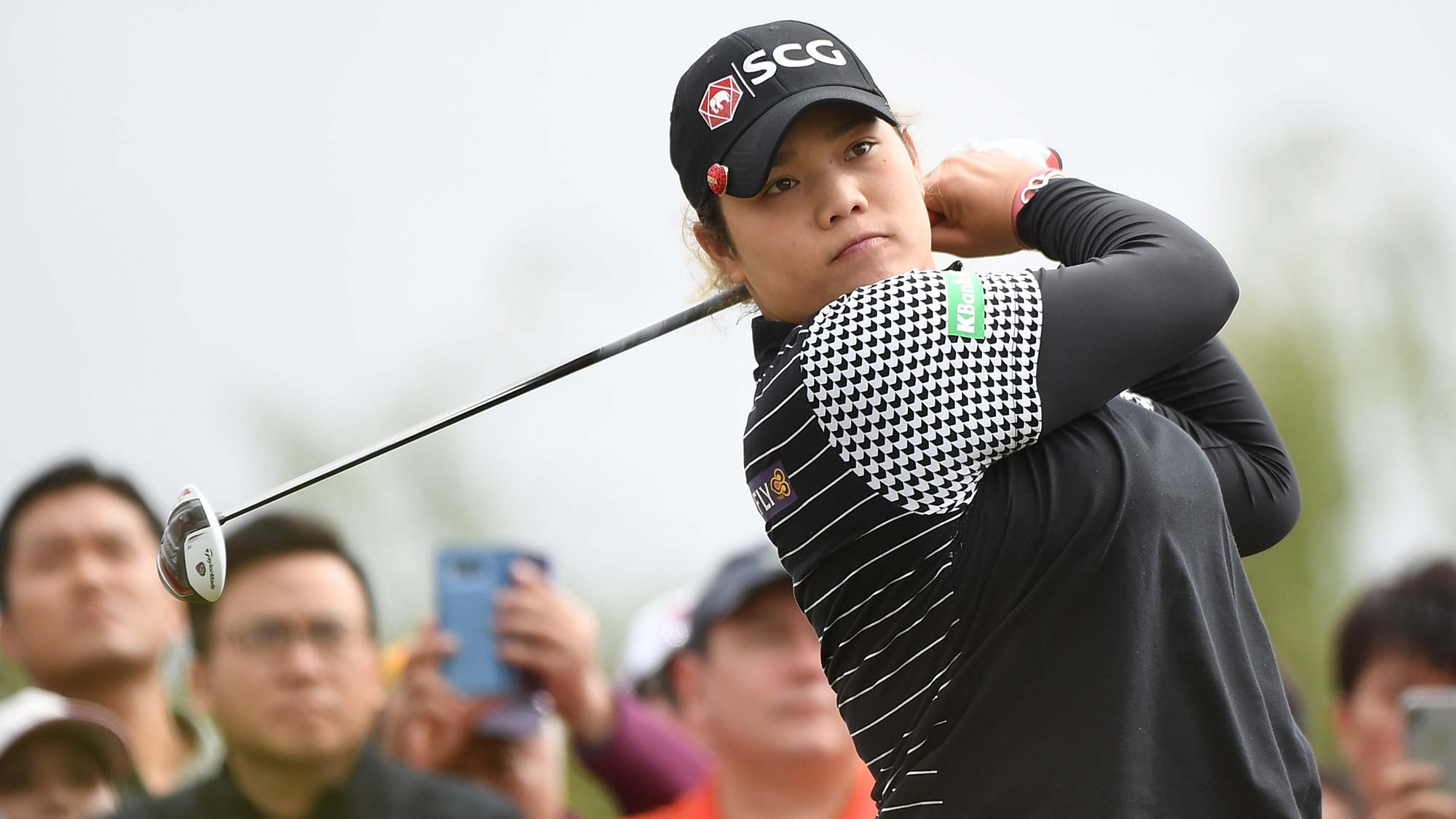 Ariya Jutanugarn of Thailand plays a shot the final round of the Buick LPGA Shanghai