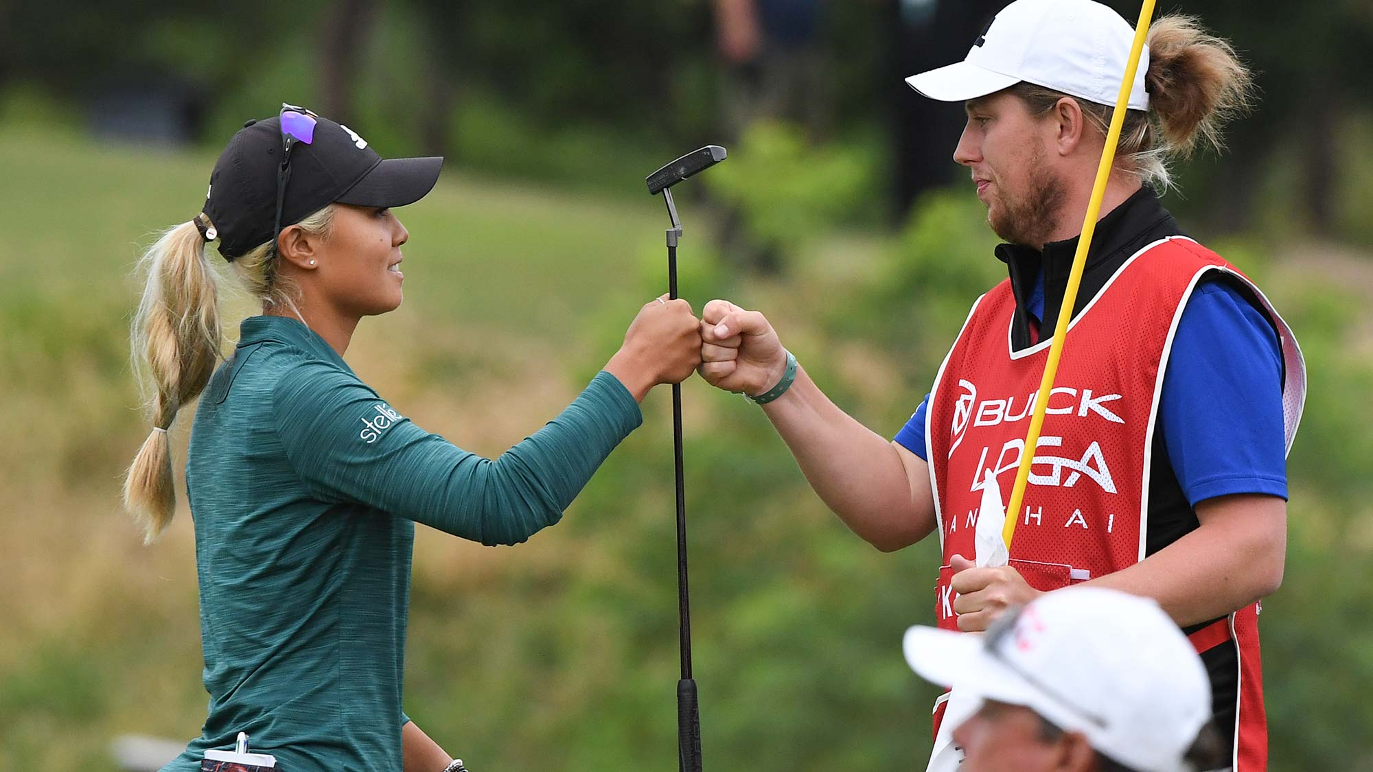 Danielle Kang of the United States plays a shot the final round of the Buick LPGA Shanghai