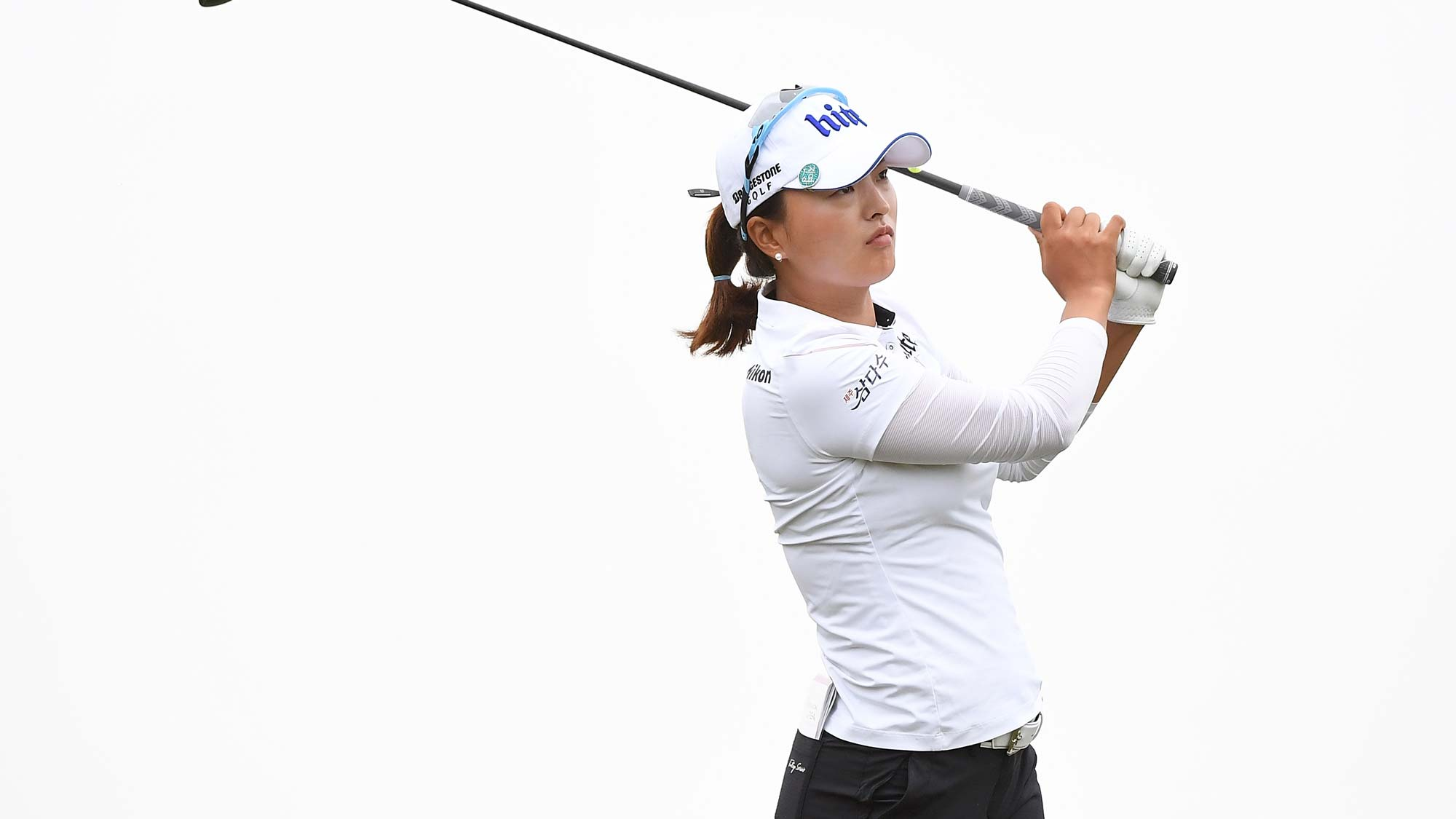 Jin Young Ko of South Korea plays a shot the final round of the Buick LPGA Shanghai