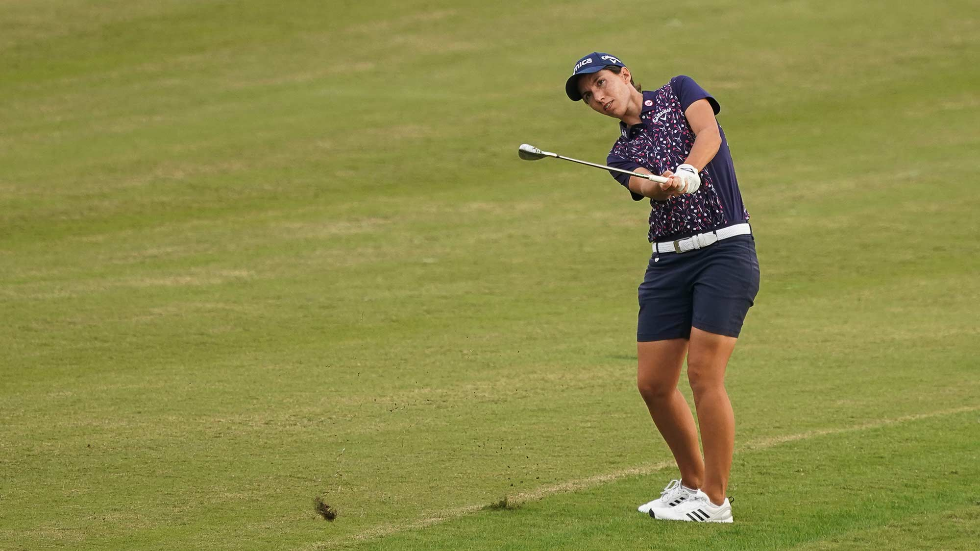 Carlota Ciganda chips during first round of Buick LPGA Shanghai