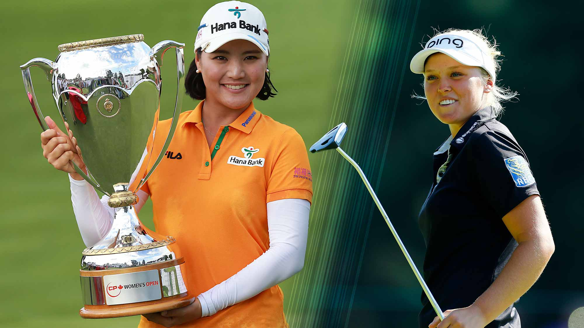 Defending champ So Yeon Ryu and new LPGA member Brooke Henderson