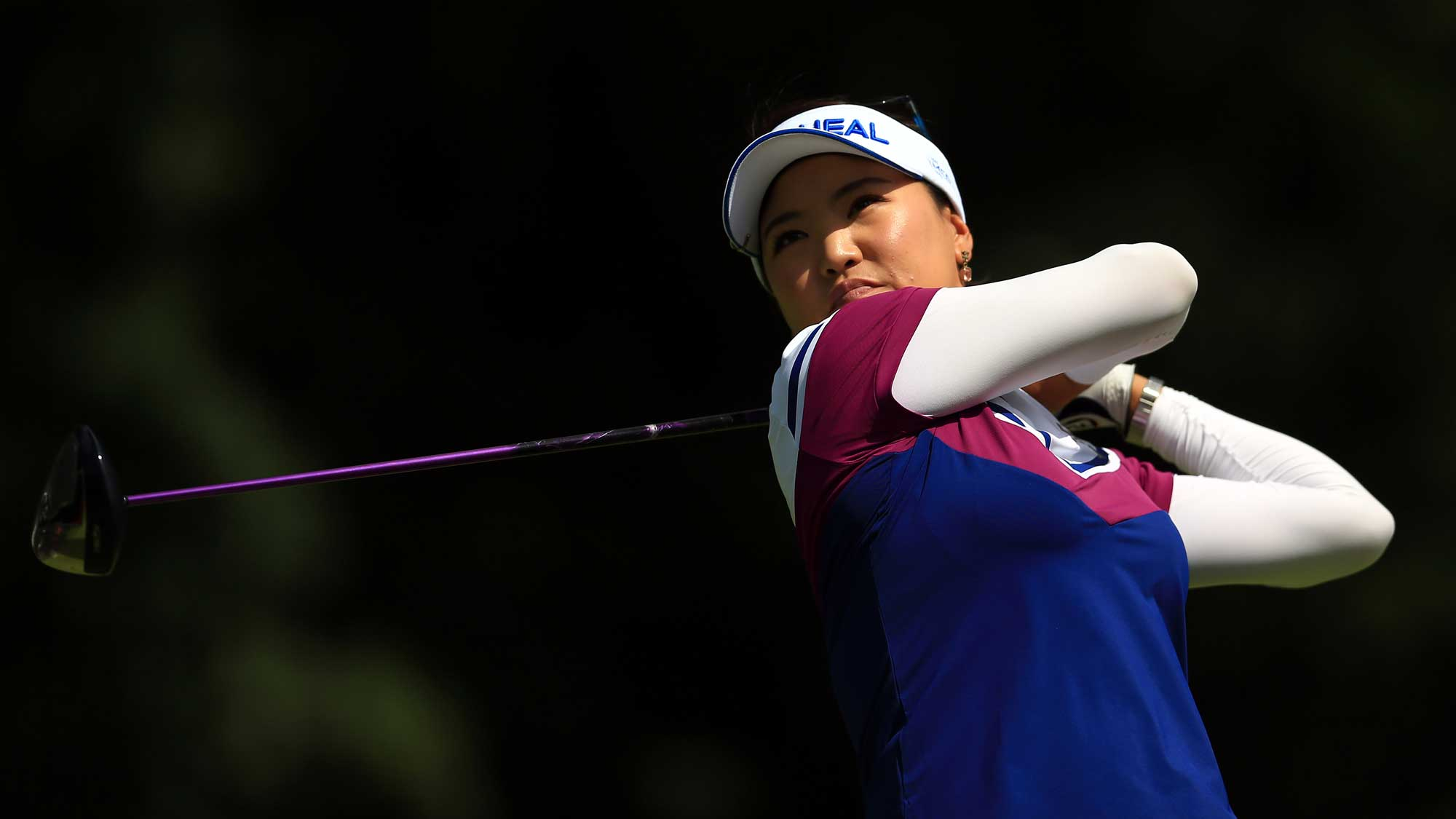 So Yeon Ryu of Korea hits her tee shot on the 4th hole during round three of the Canadian Pacific Women's Open
