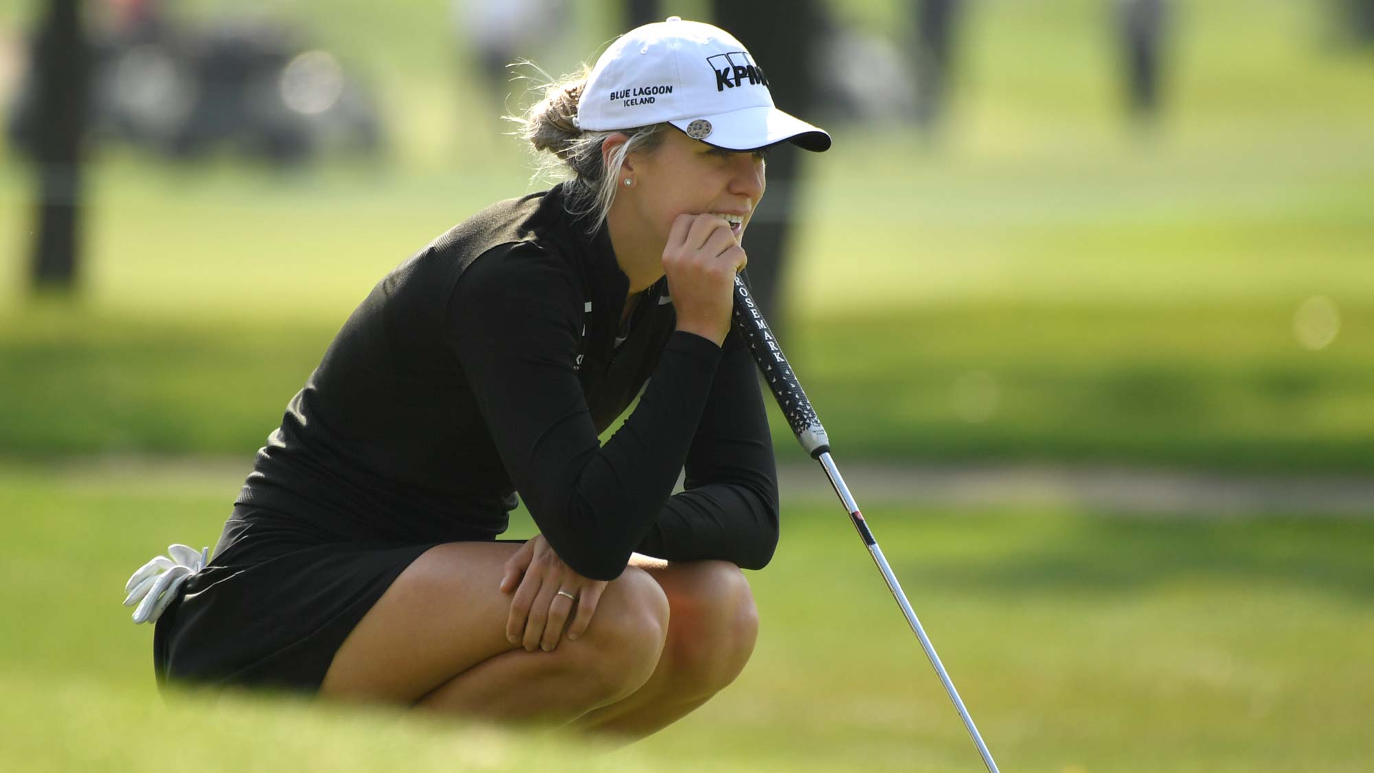 Olafia Kristinsdottir during a practice round at the 2018 CP Women's Open