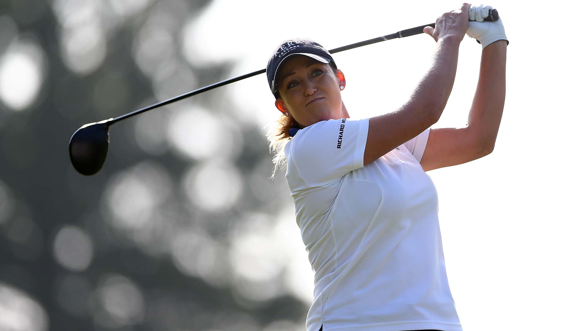Cristie Kerr of the United States hits her tee shot on the fourth hole during the first round of the CP Womens Open