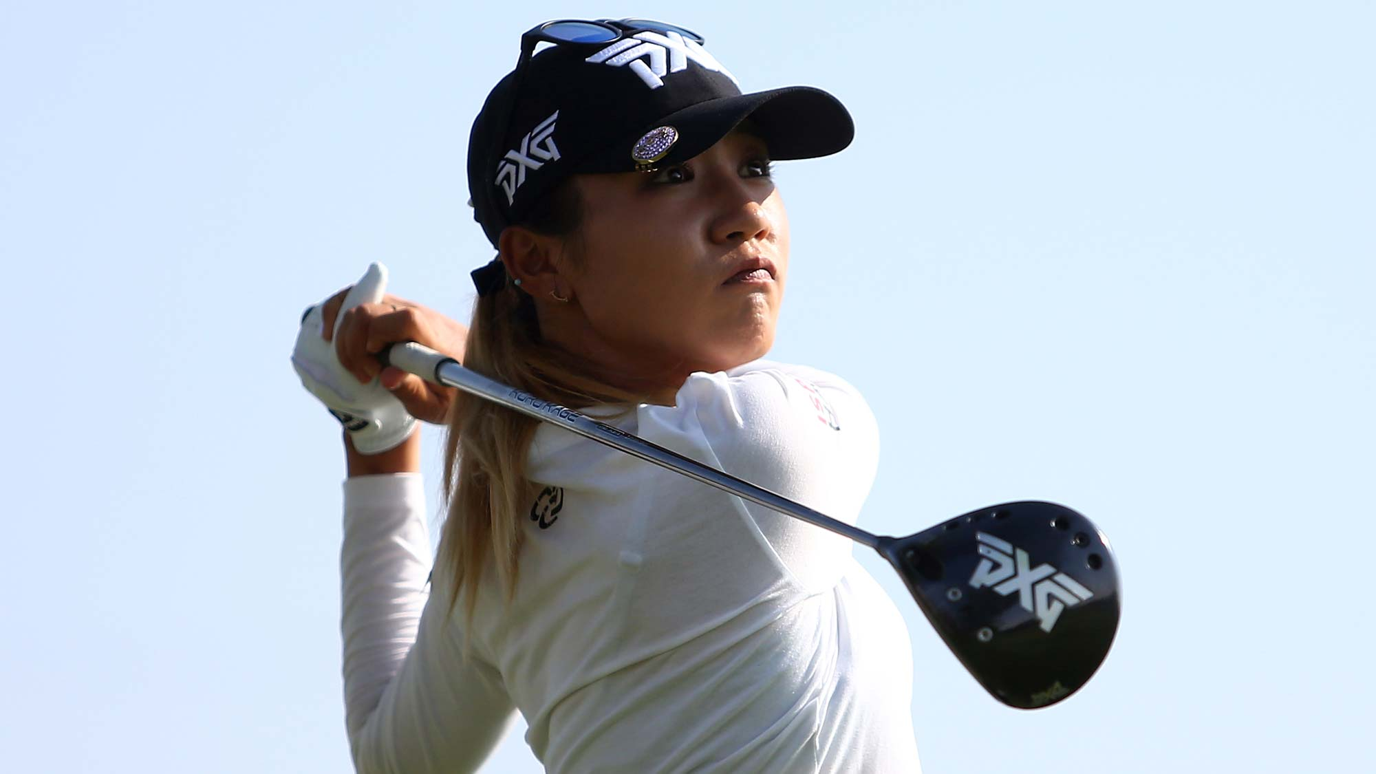 Lydia Ko of New Zealand hits her tee shot on the twelfth hole during the first round of the CP Womens Open
