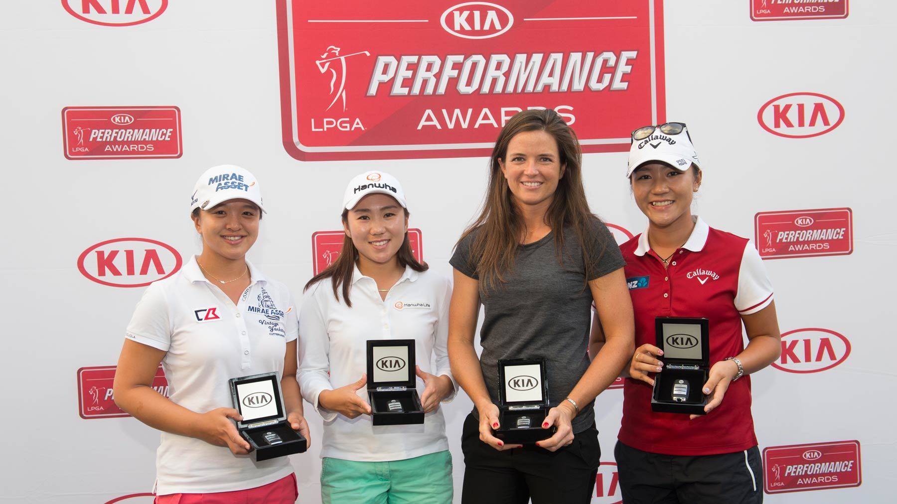 2015 Kia Performance Award Winners - Sei Young Kim, I.K. Kim, Joanna Klatten, and Lydia Ko
