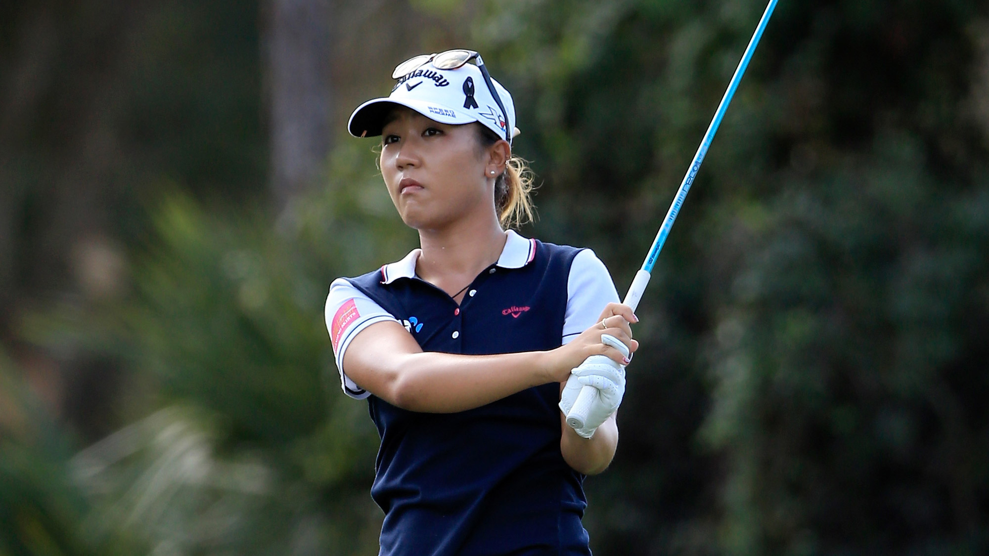 Lydia Ko of New Zealand plays a shot on the sixth hole during the first round of the CME Group Tour Championship at Tiburon Golf Club