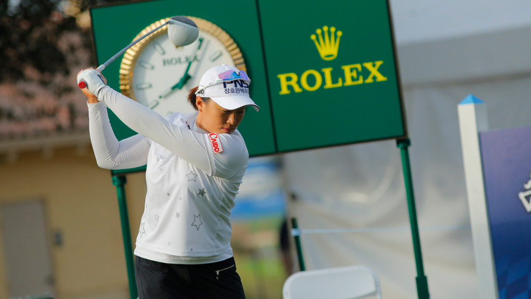 Amy Yang during the CME Group Tour Championship Tuesday ProAm