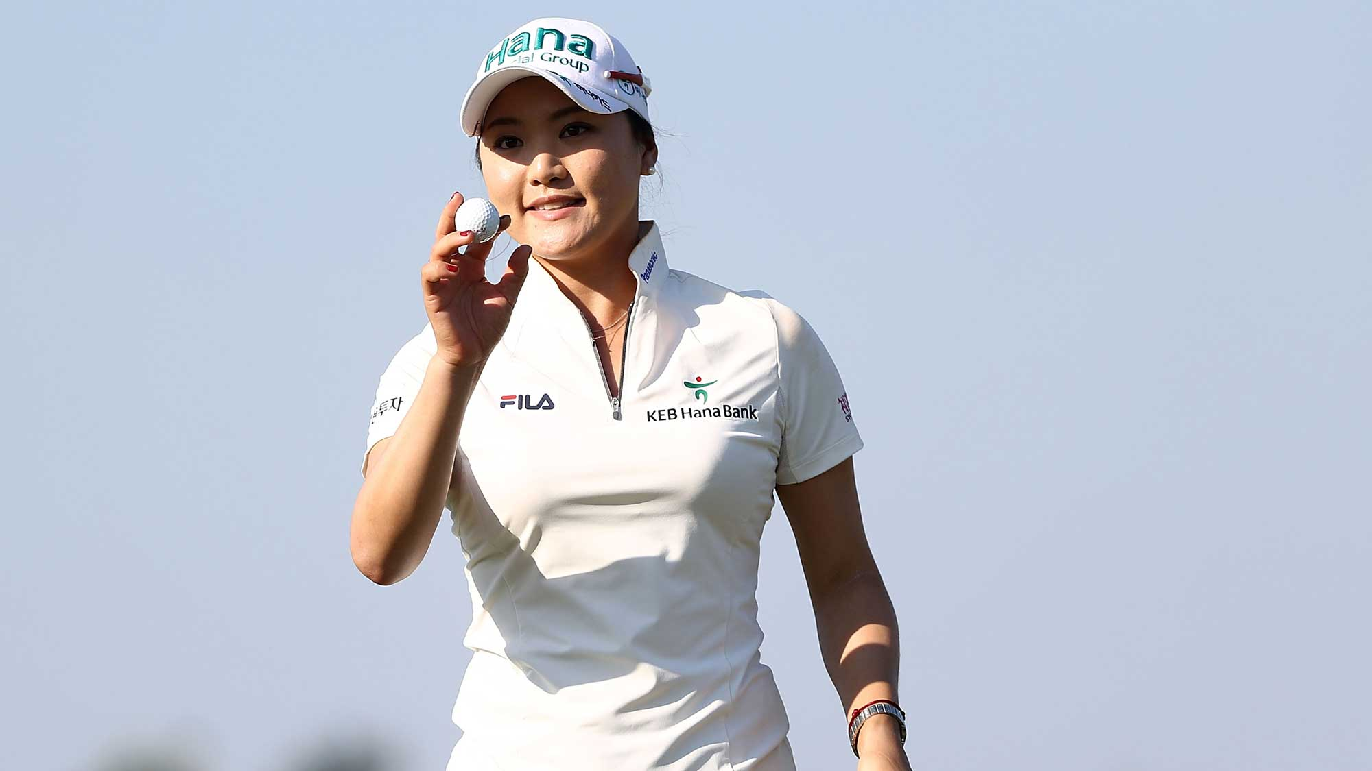 So Yeon Ryu of South Korea reacts to her putt on the 17th hole during the first round of the CME Group Tour Championship at Tiburon Golf Club