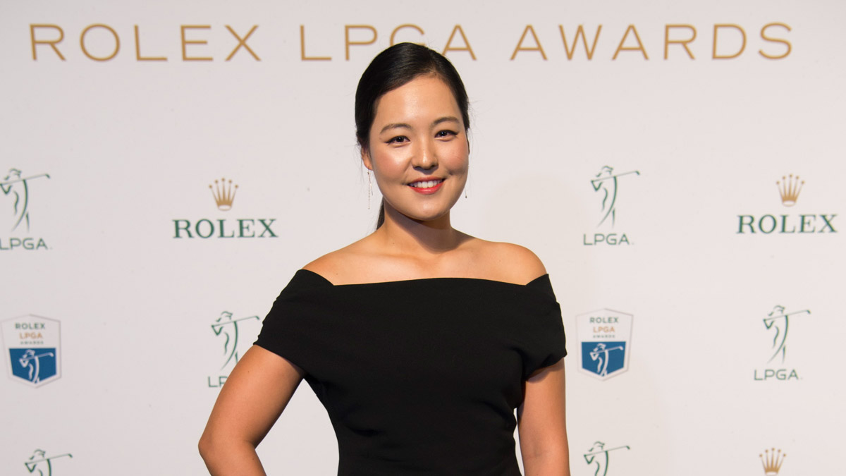 In Gee Chun on the green carpet before the 2016 Rolex LPGA Awards