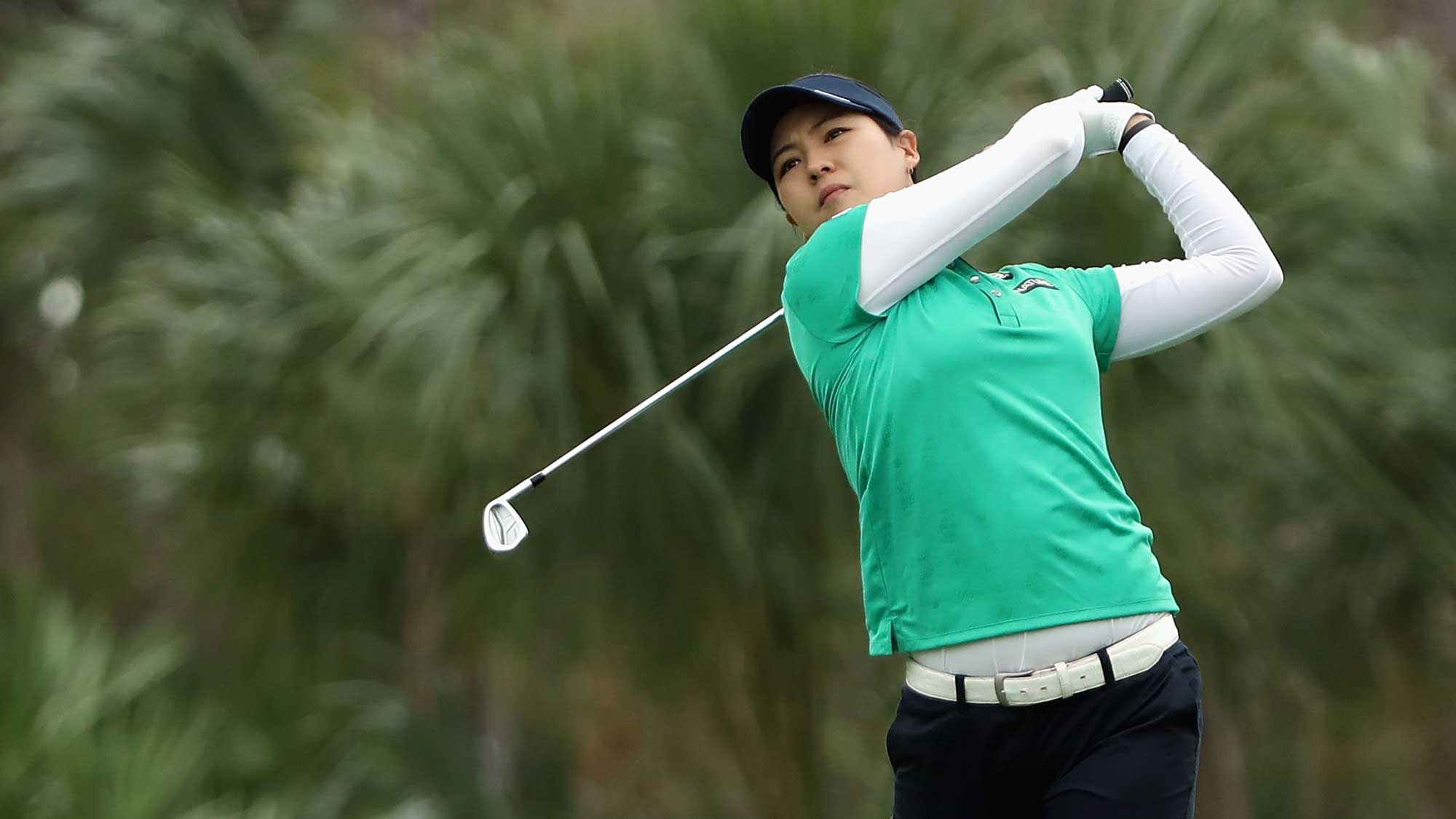 In Gee Chun of Korea plays a shot on the second hole during round one of the CME Group Tour Championship
