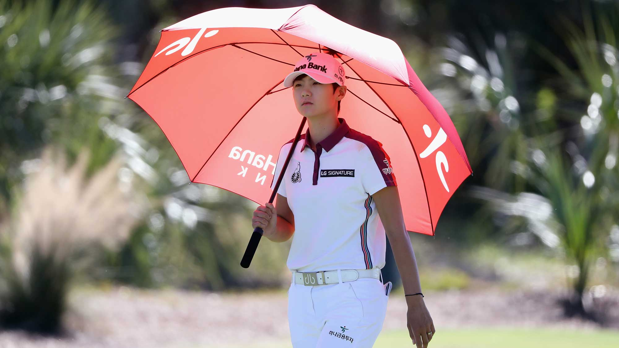 Sung Hyun Park of Korea walks on the second hole during round three of the CME Group Tour Championship