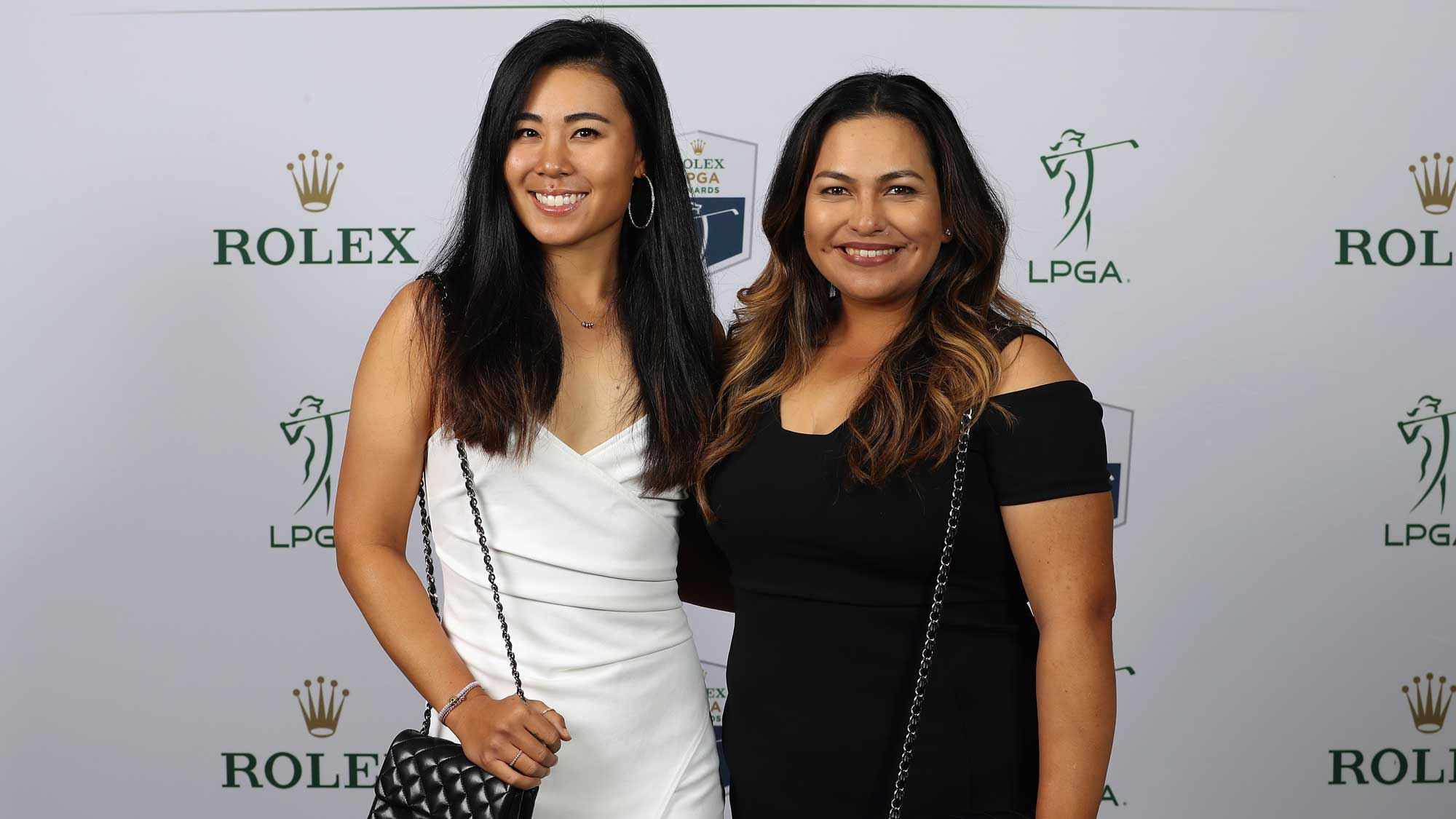 2017 Rolex First-Time Winner Danielle Kang of the United States (L) poses with Lizette Salas of the United States (R) during the LPGA Rolex Players Awards at The Ritz-Carlton Golf Resort