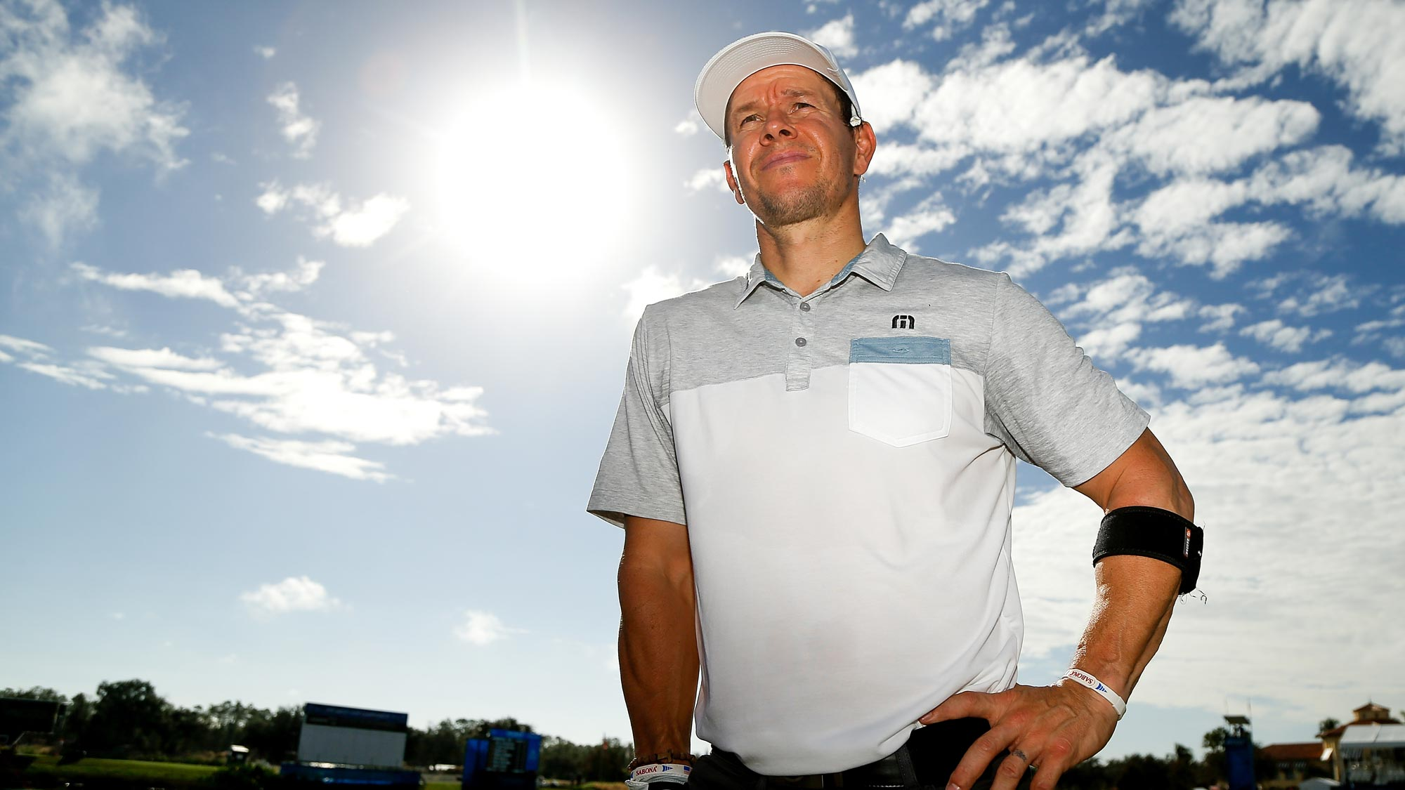 Actor Mark Wahlberg looks on during the CME Group charity event to benefit St. Jude Children's Research Hospital prior to the LPGA CME Group Tour Championship