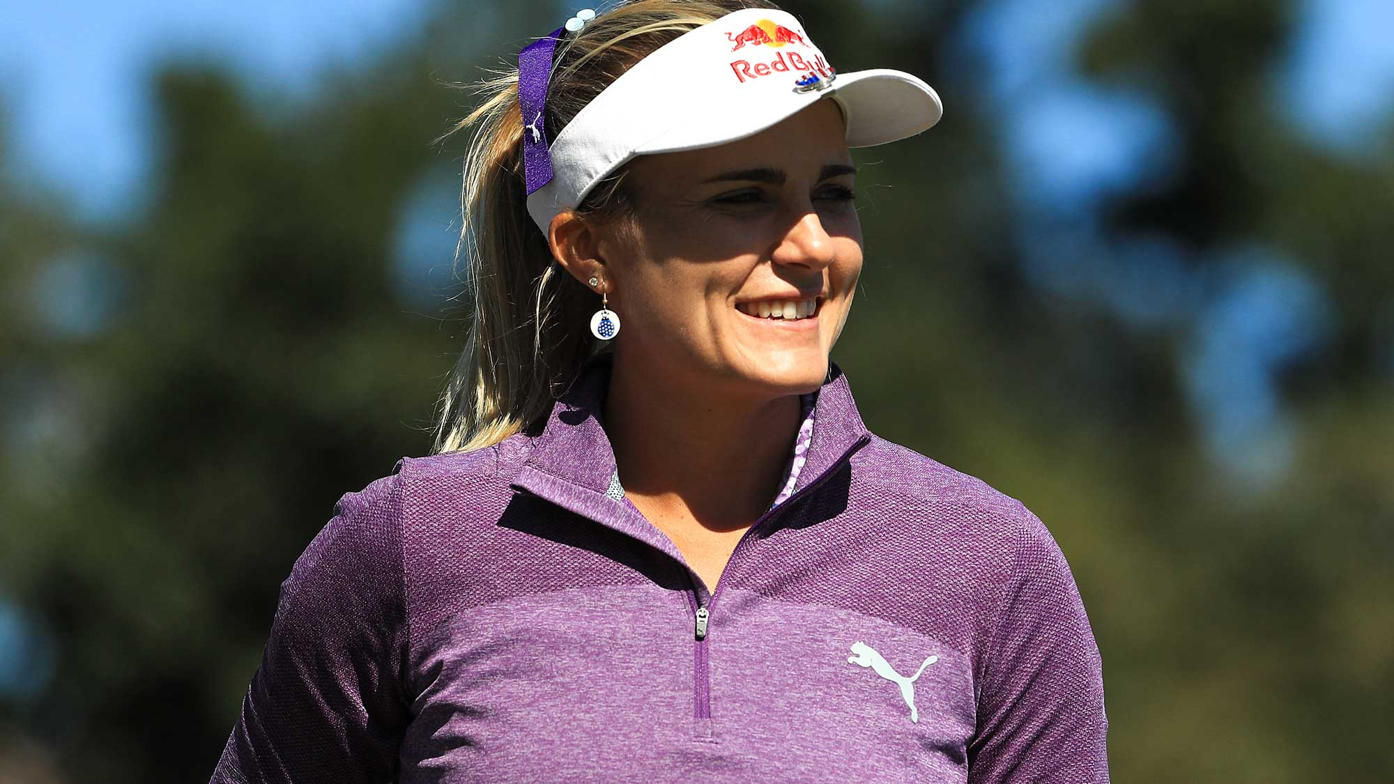 Lexi Thompson looks on during the second round of the CME Group Tour Championship