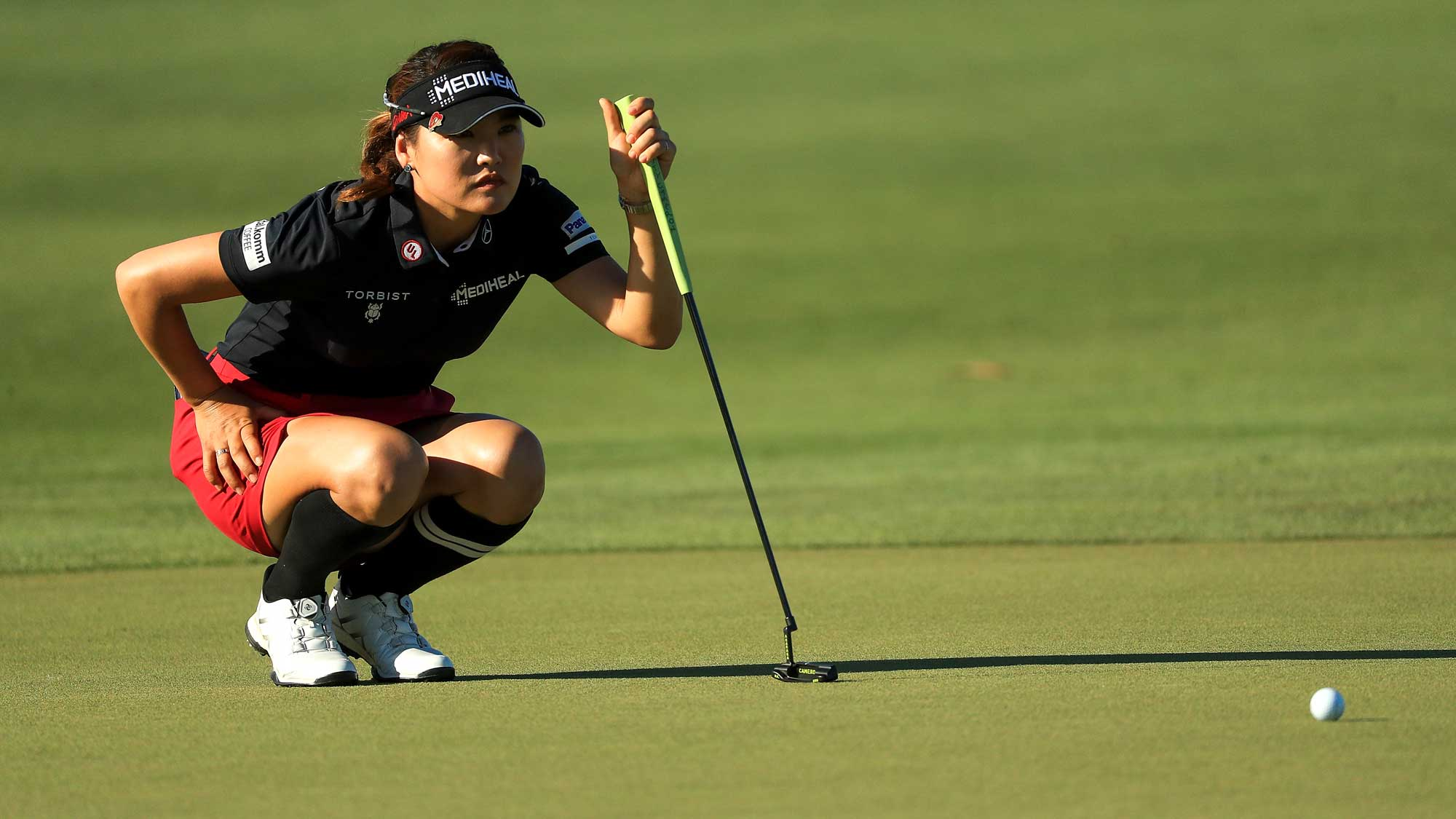 So Yeon Ryu of Korea looks over a putt on the 18th green during the third round of the LPGA CME Group Tour Championship