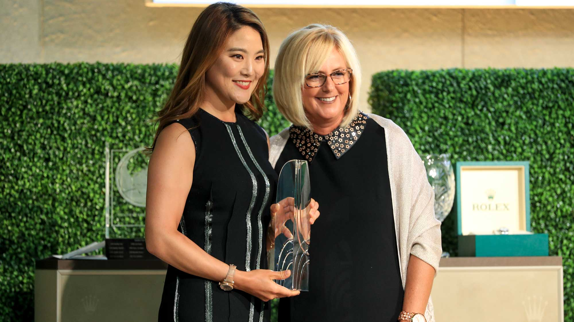 So Yeon Ryu of South Korea is presented with the William and Mousie Powell Award during the LPGA Rolex Players Awards at the Ritz-Carlton Golf Resort