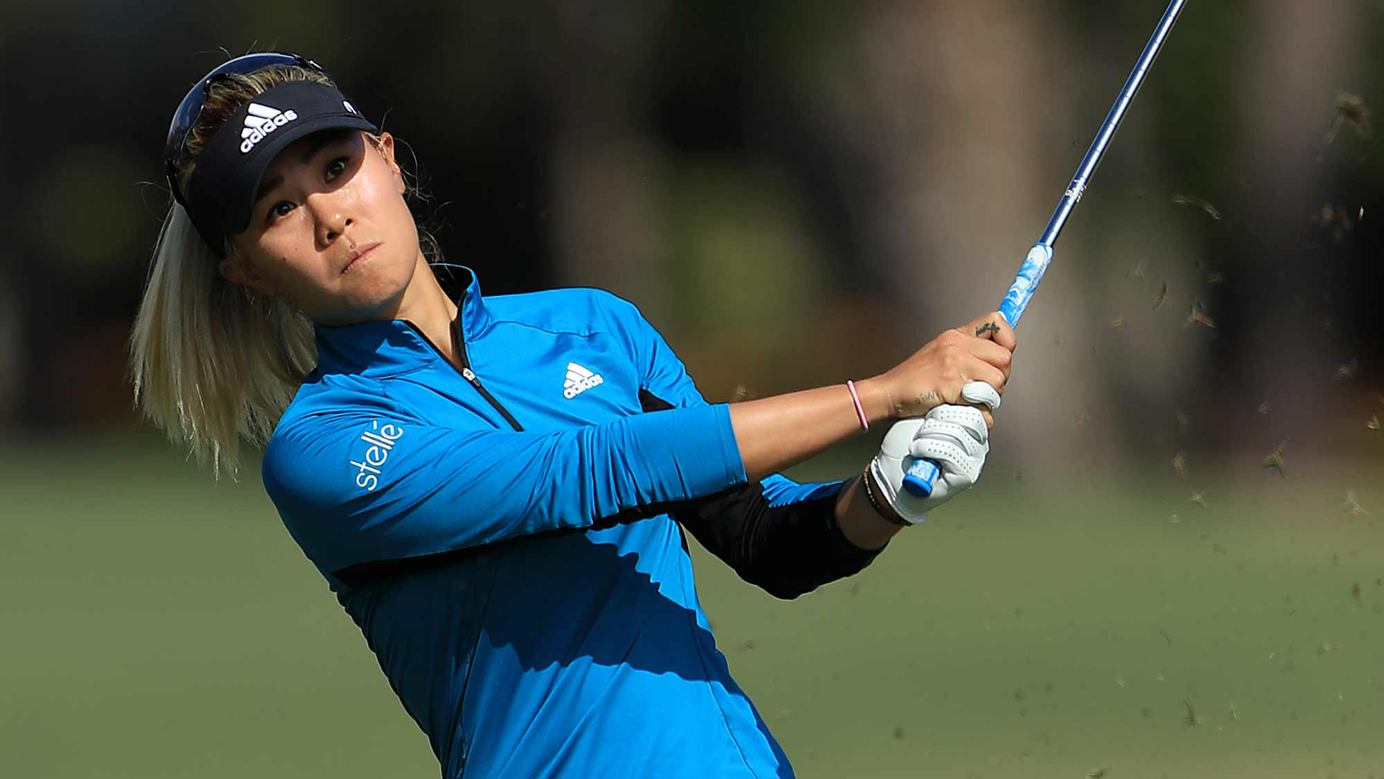 Danielle Kang of the United States plays a shot on the sixth hole during the final round of the CME Group Tour Championship at Tiburon Golf Club on November 24, 2019 in Naples, Florida