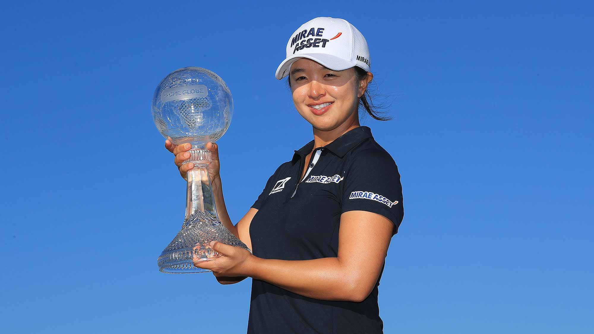 Sei Young Kim of South Korea poses with the trophy after winning the CME Group Tour Championship at Tiburon Golf Club on November 24, 2019 in Naples, Florida