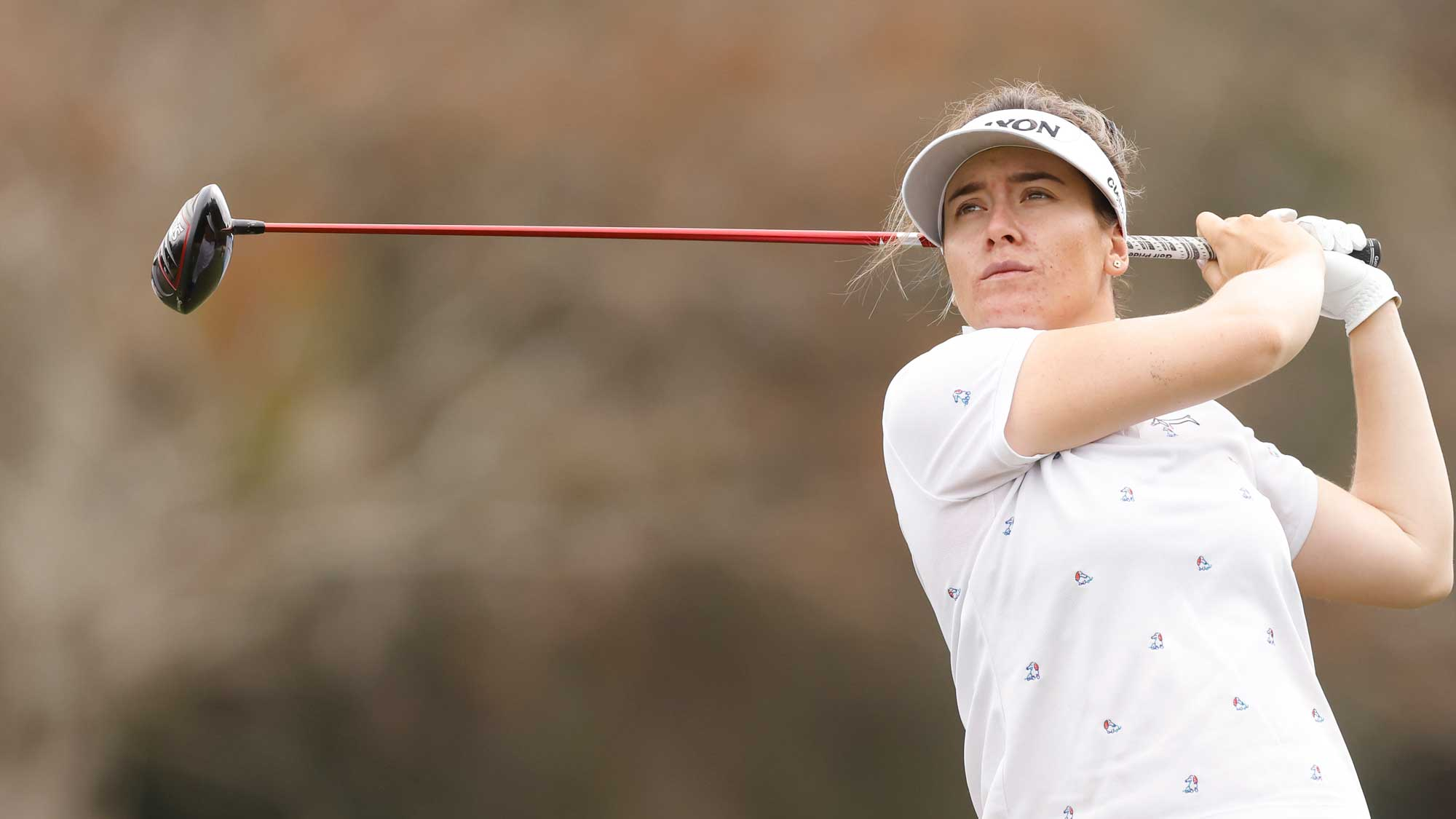 Hannah Green of Australia plays her shot from the third tee during the first round of the CME Group Tour Championship