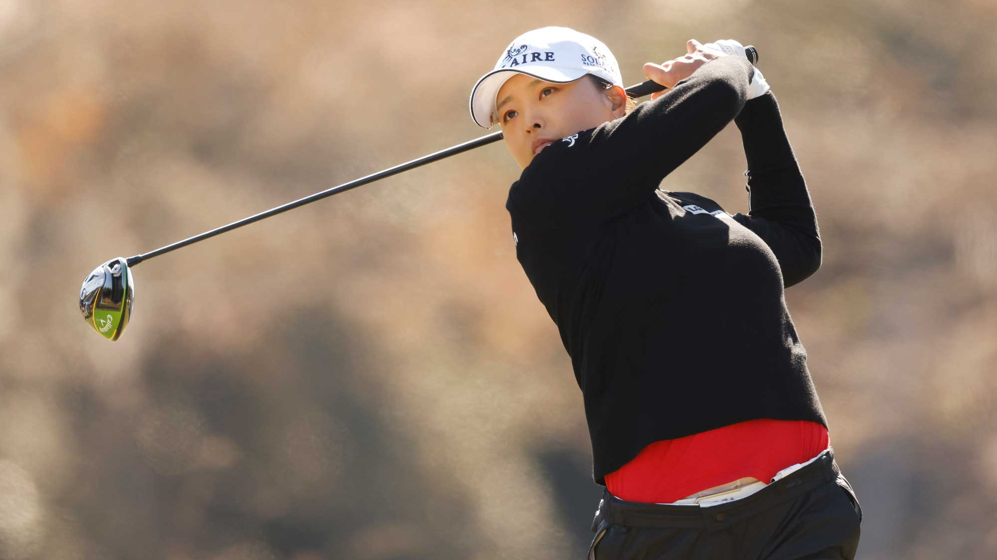 Jin Young Ko of Korea plays her shot from the third tee during the second round of the CME Group Tour Championship