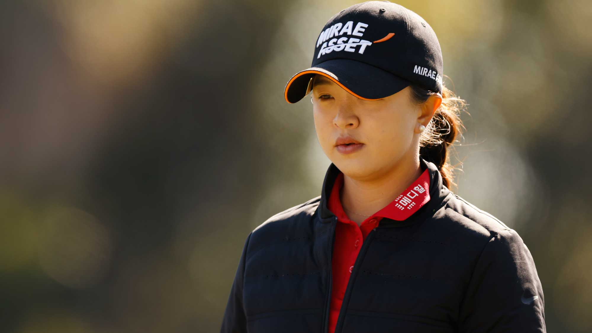 Sei Young Kim of Korea looks on from the third tee during the second round of the CME Group Tour Championship