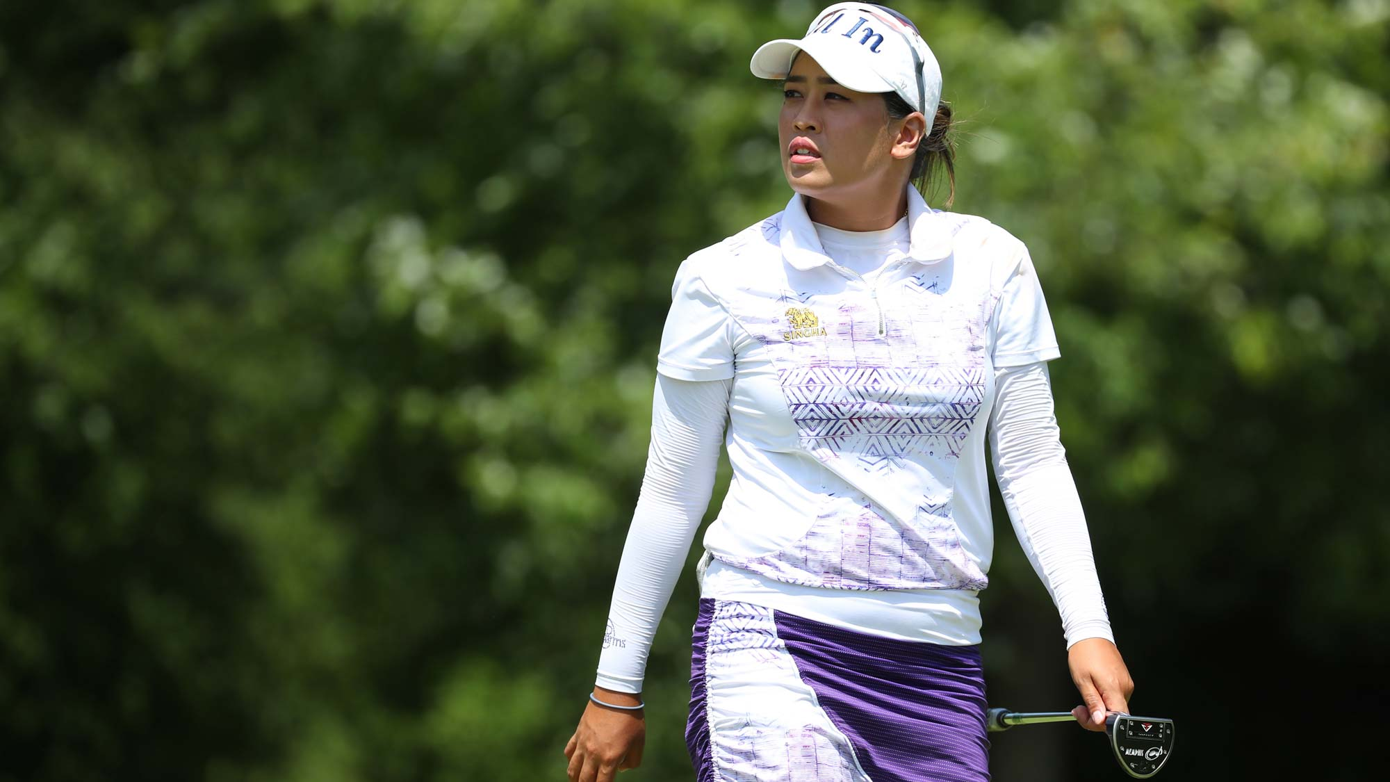 Jasmine Suwannapura of Thailand walks off the sixth green during round three of the Dow Great Lakes Bay Invitational