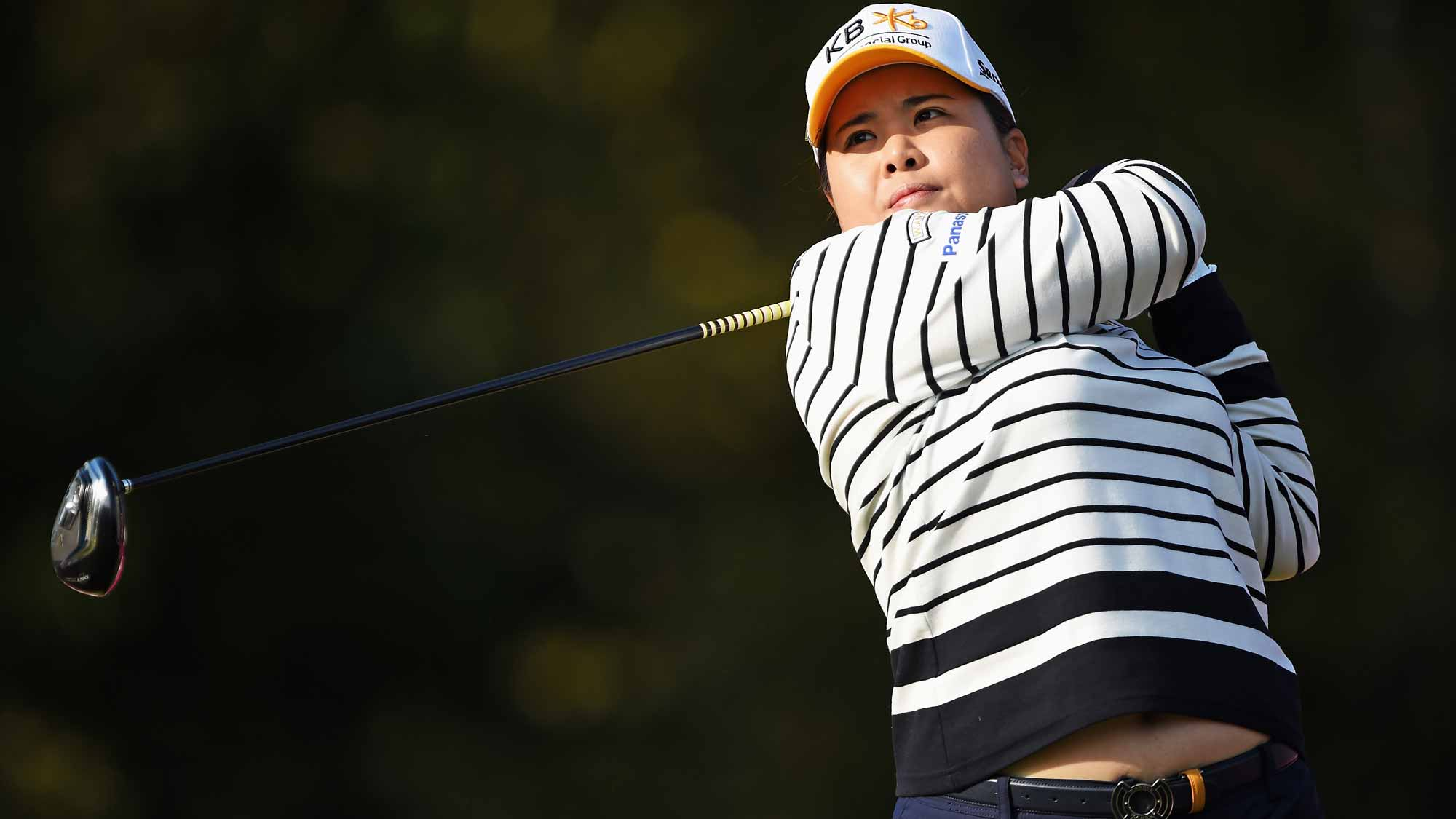 Inbee Park during the first round of the Evian Championship