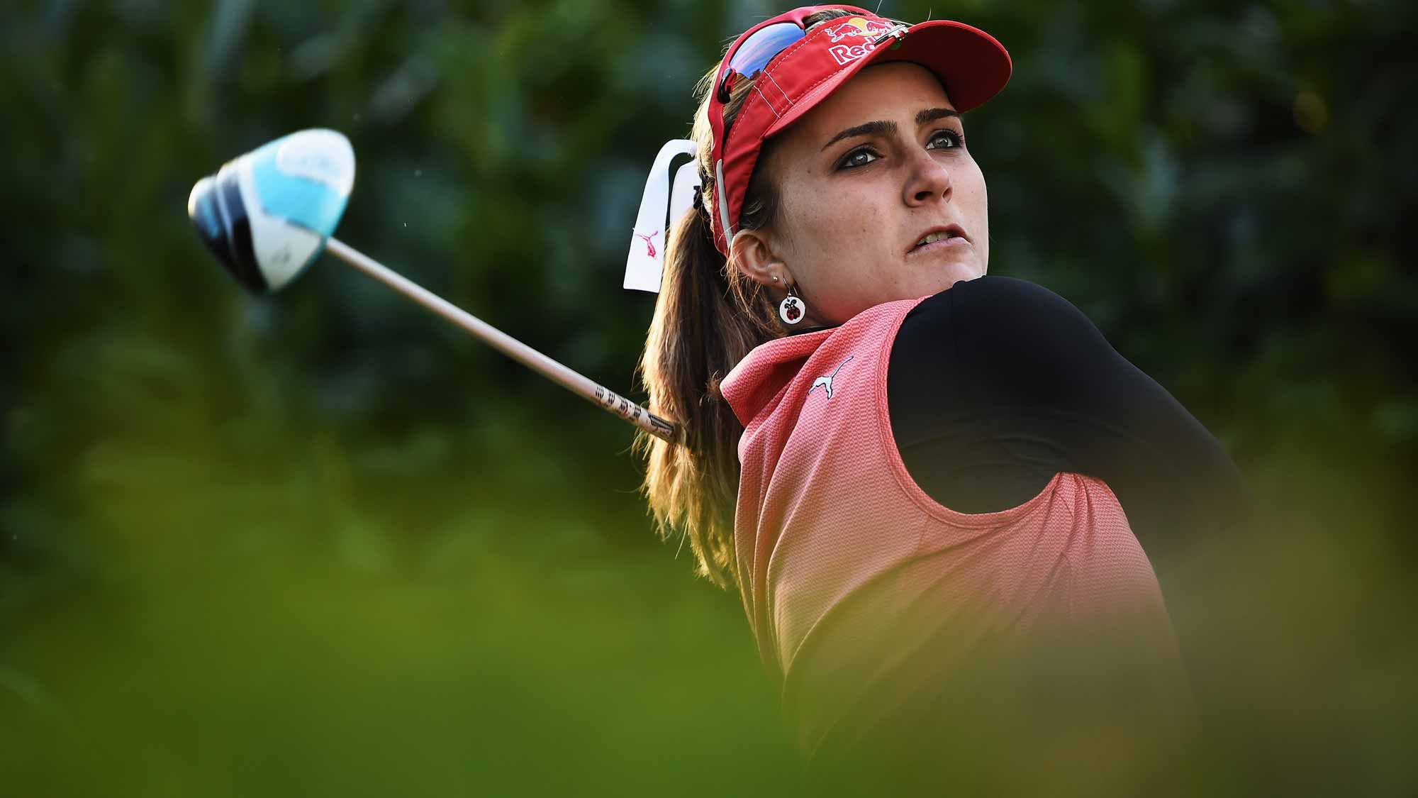 Lexi Thompson during the first round of the Evian Championship Golf
