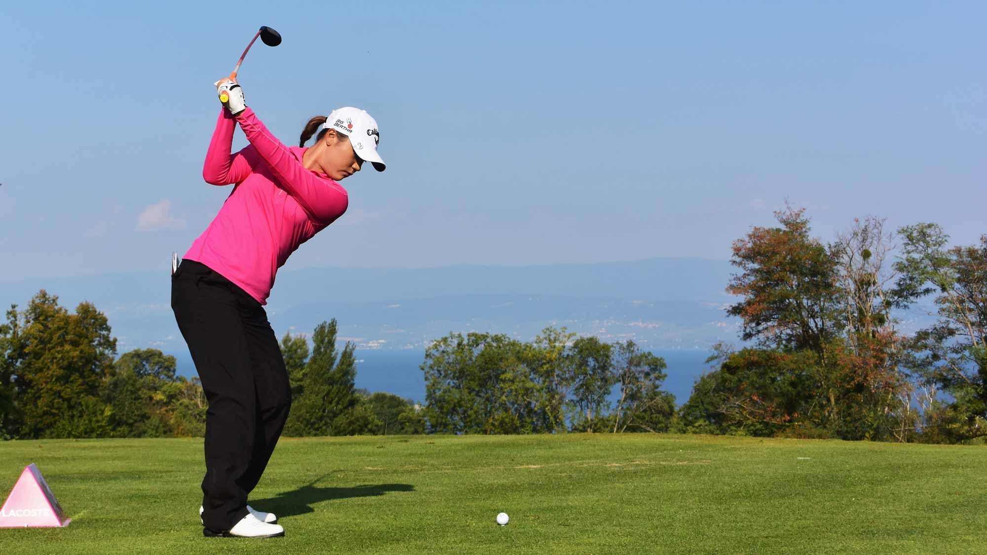 Lydia Ko during the first round of the Evian Championship