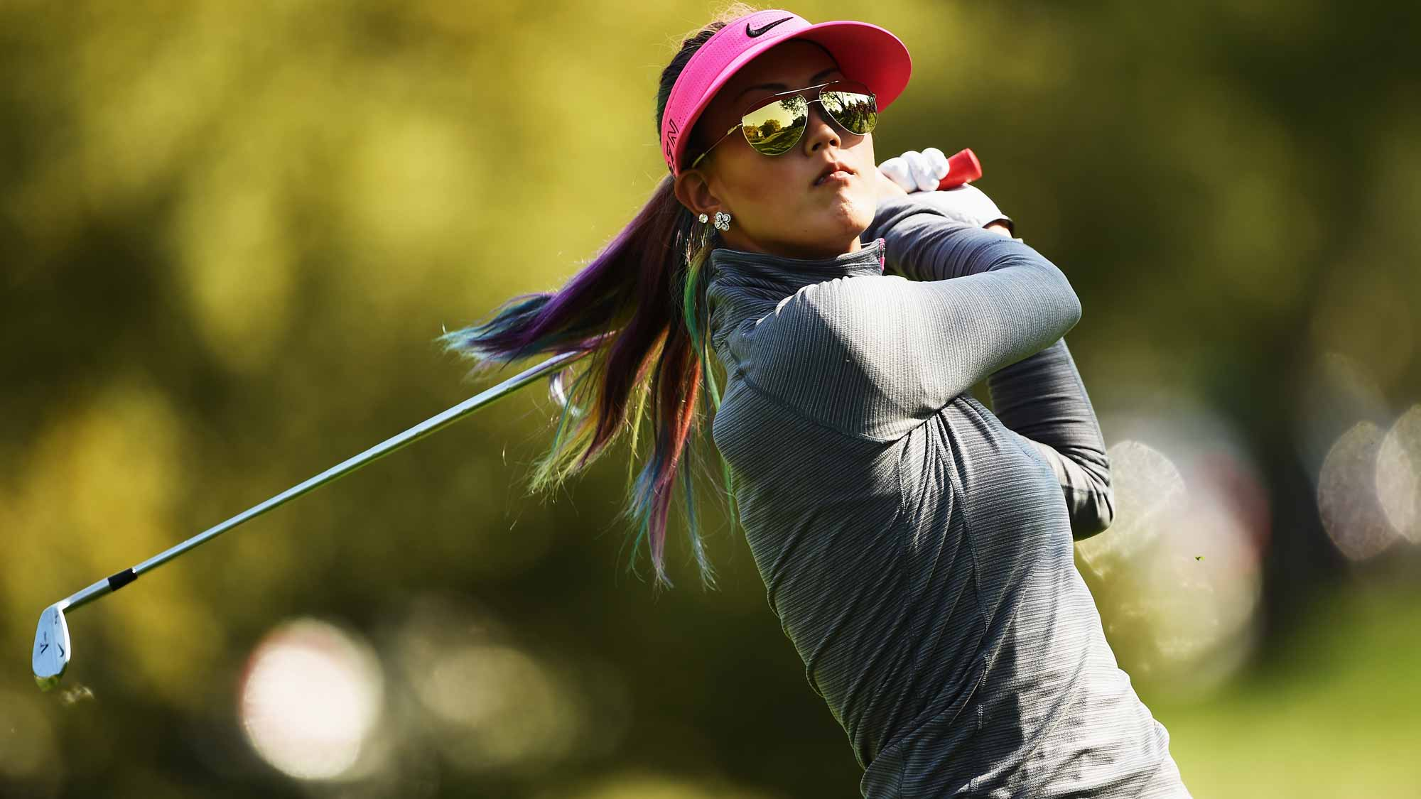Michelle Wie during the first round of the Evian Championship