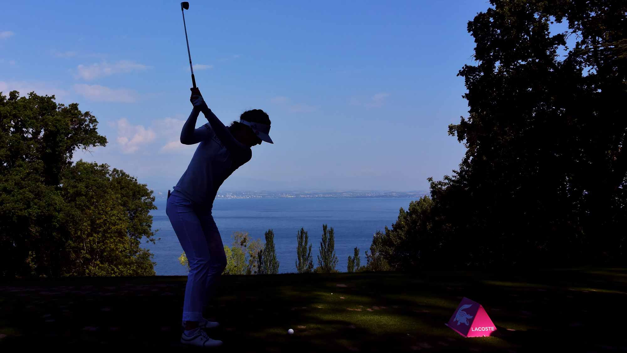 Sandra Gal during the first round of the Evian Championship