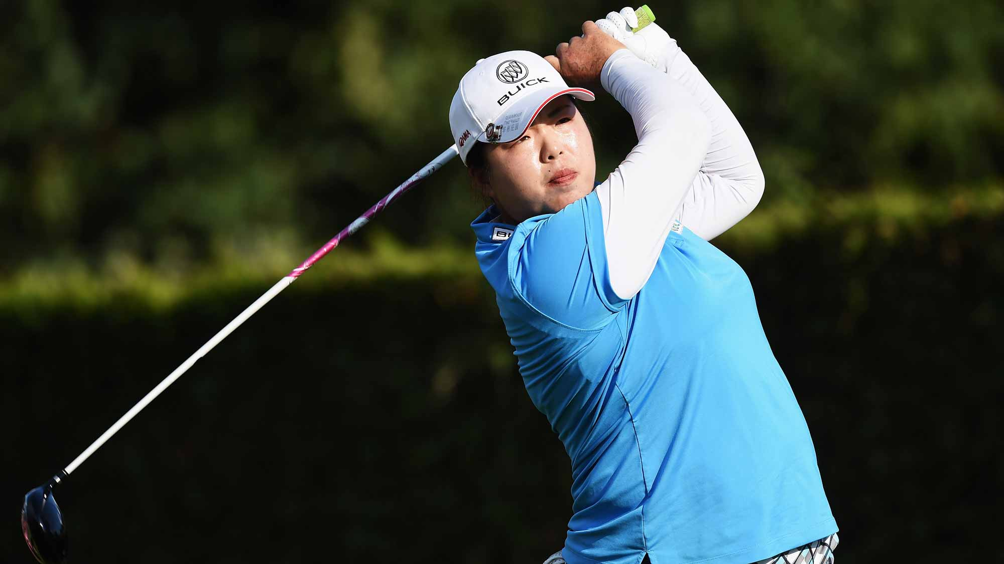 Shanshan Feng during the first round of the Evian Championship