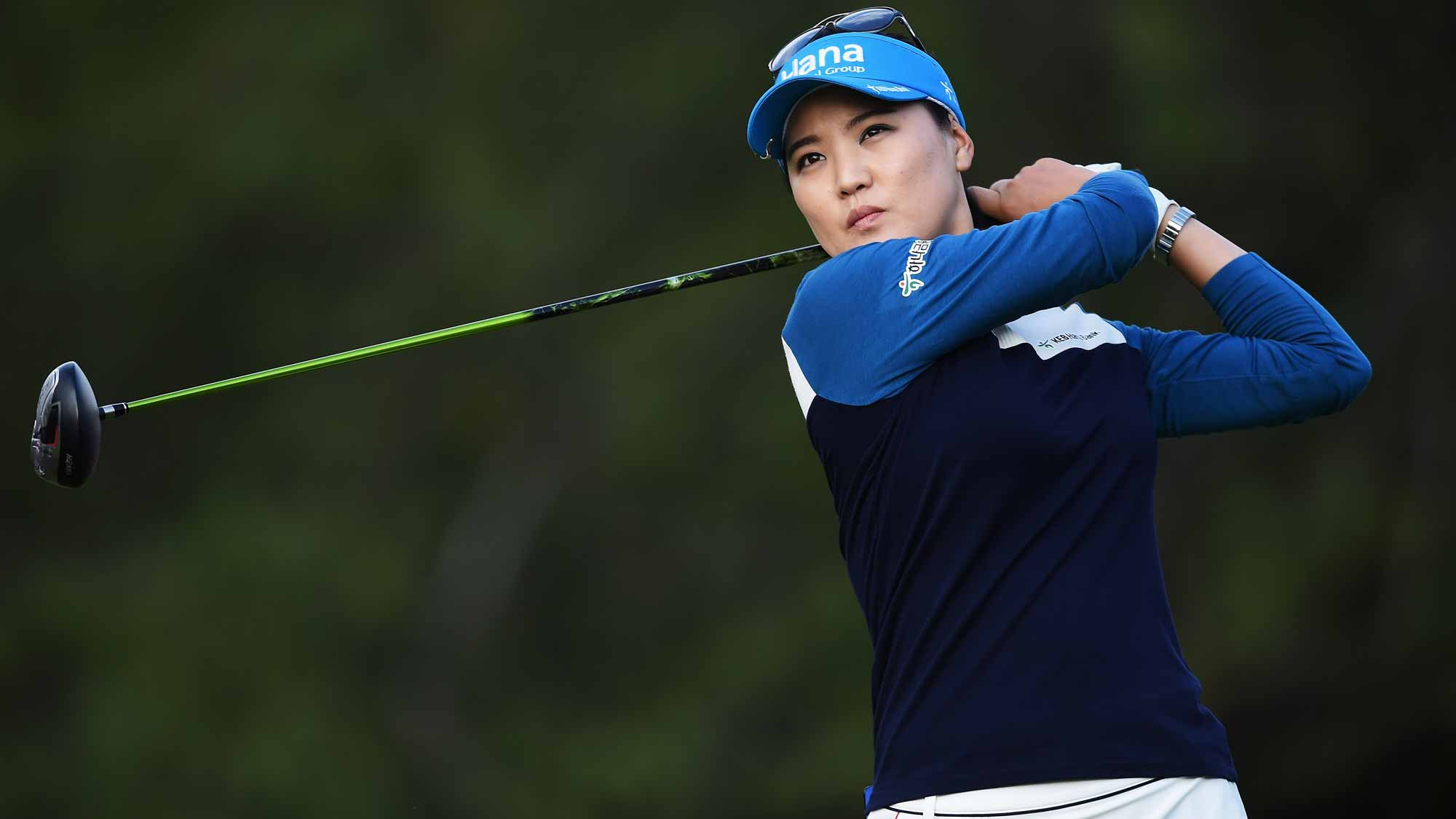 So Yeon Ryu during the first round of the Evian Championship