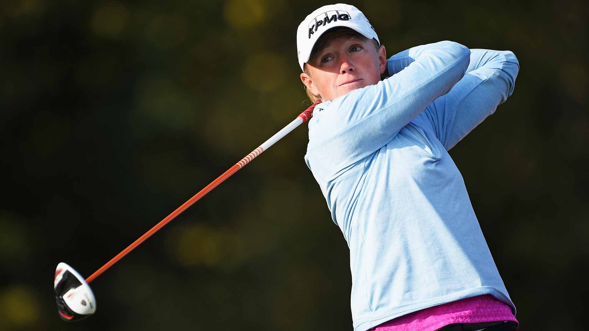 Stacy Lewis during the first round of the Evian Championship