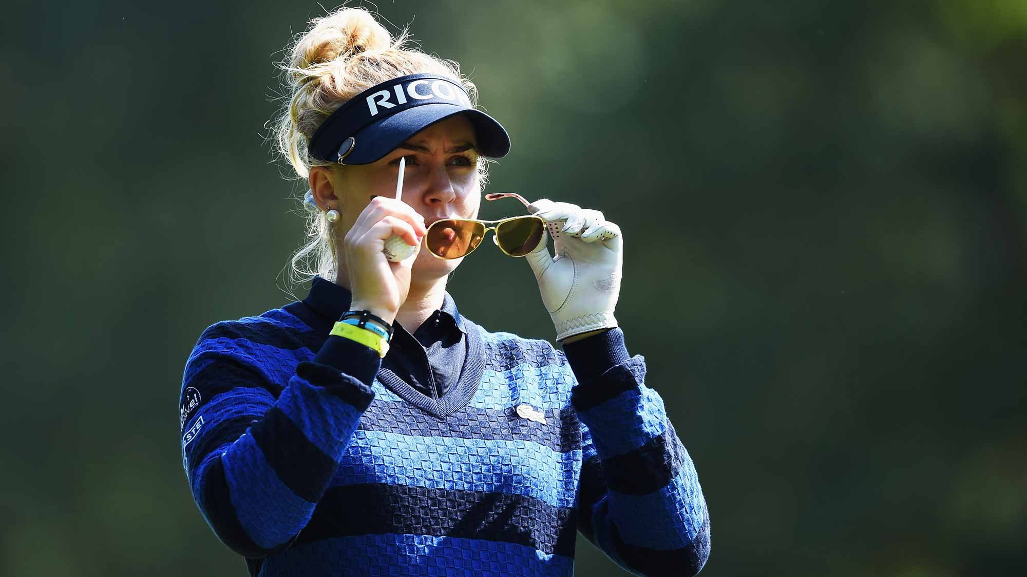 Charley Hull during the second round of the Evian Championship