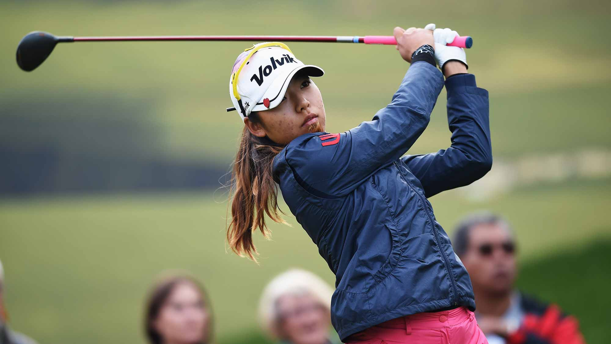Mi Hyang Lee during the second round of the Evian Championship