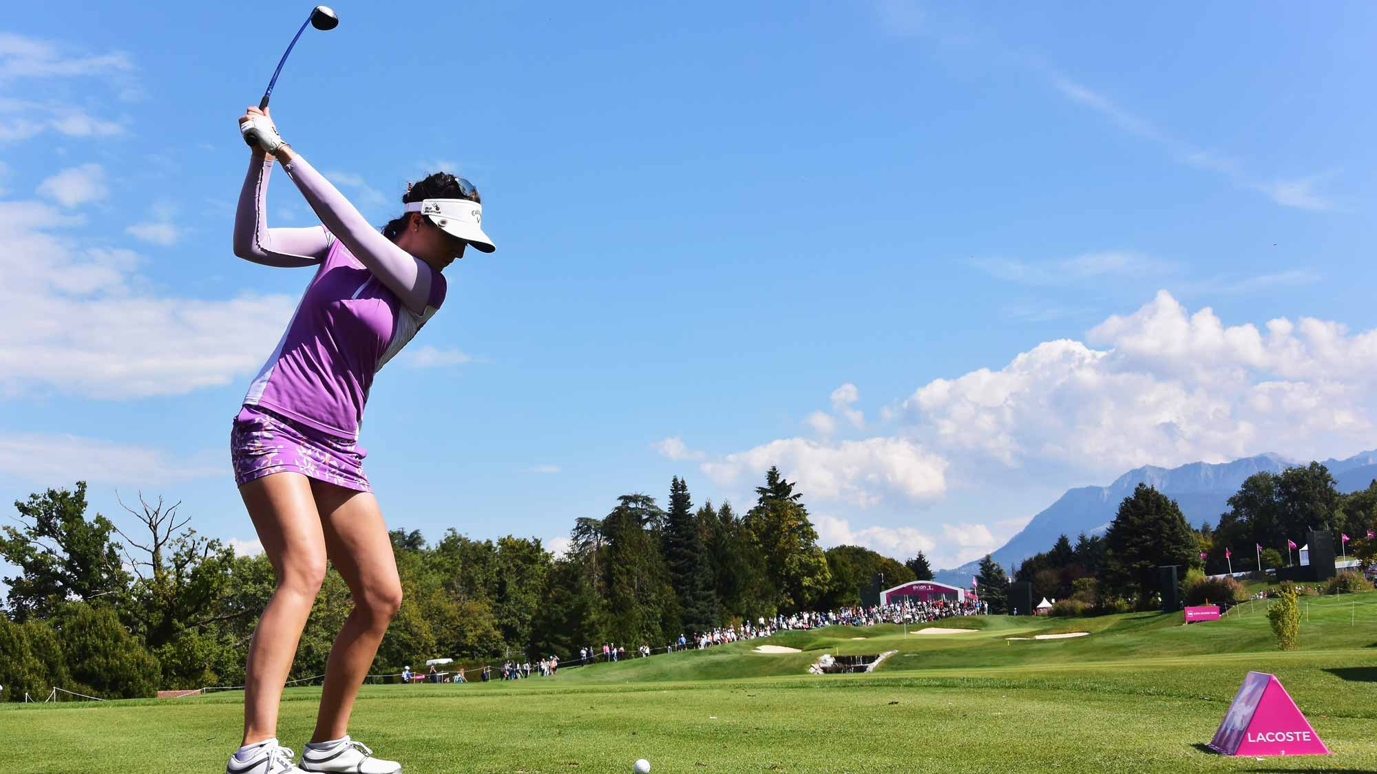 Sandra Gal during the second round of the Evian Championship