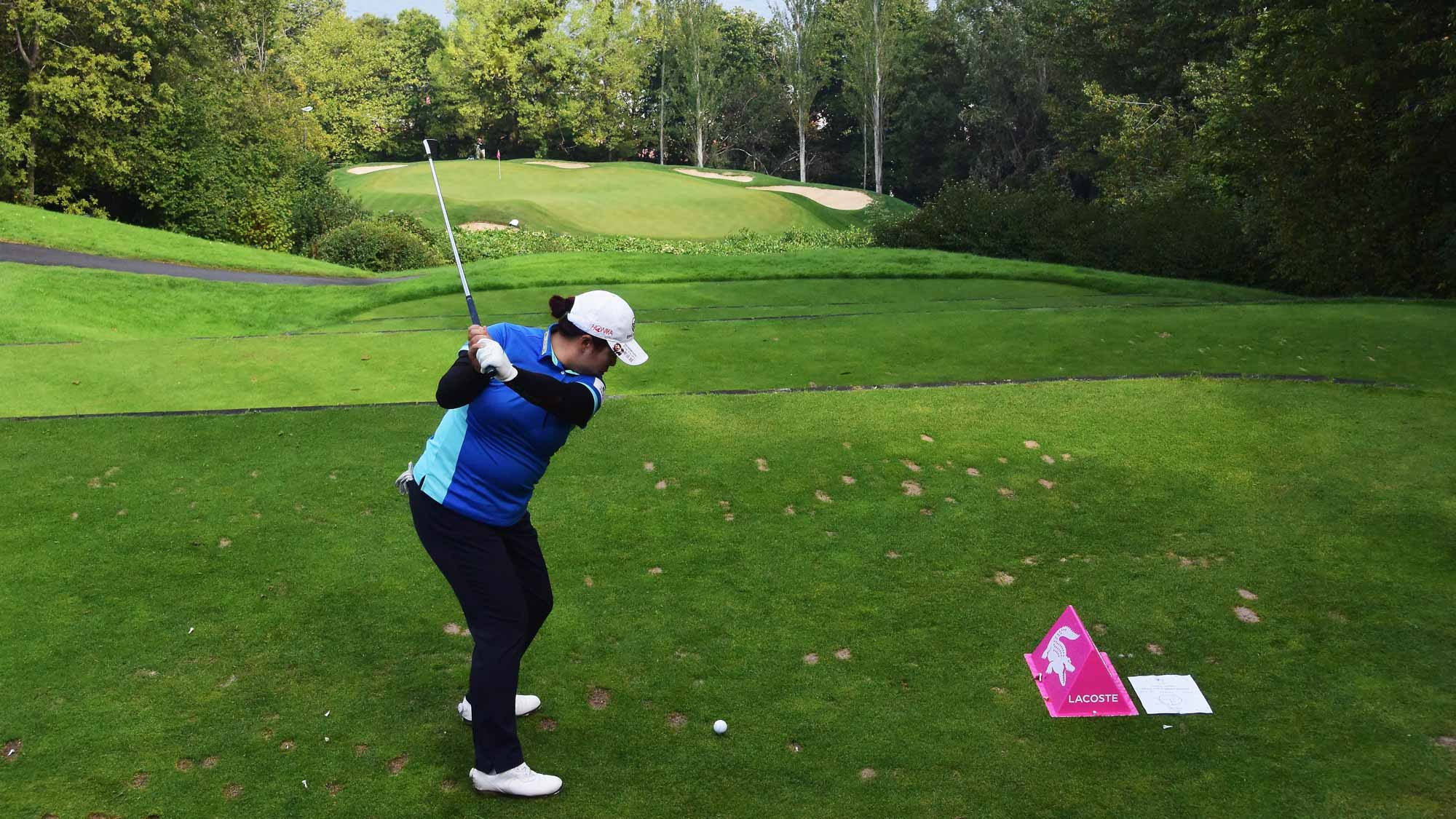 Shanshan Feng during the second round of the Evian Championship