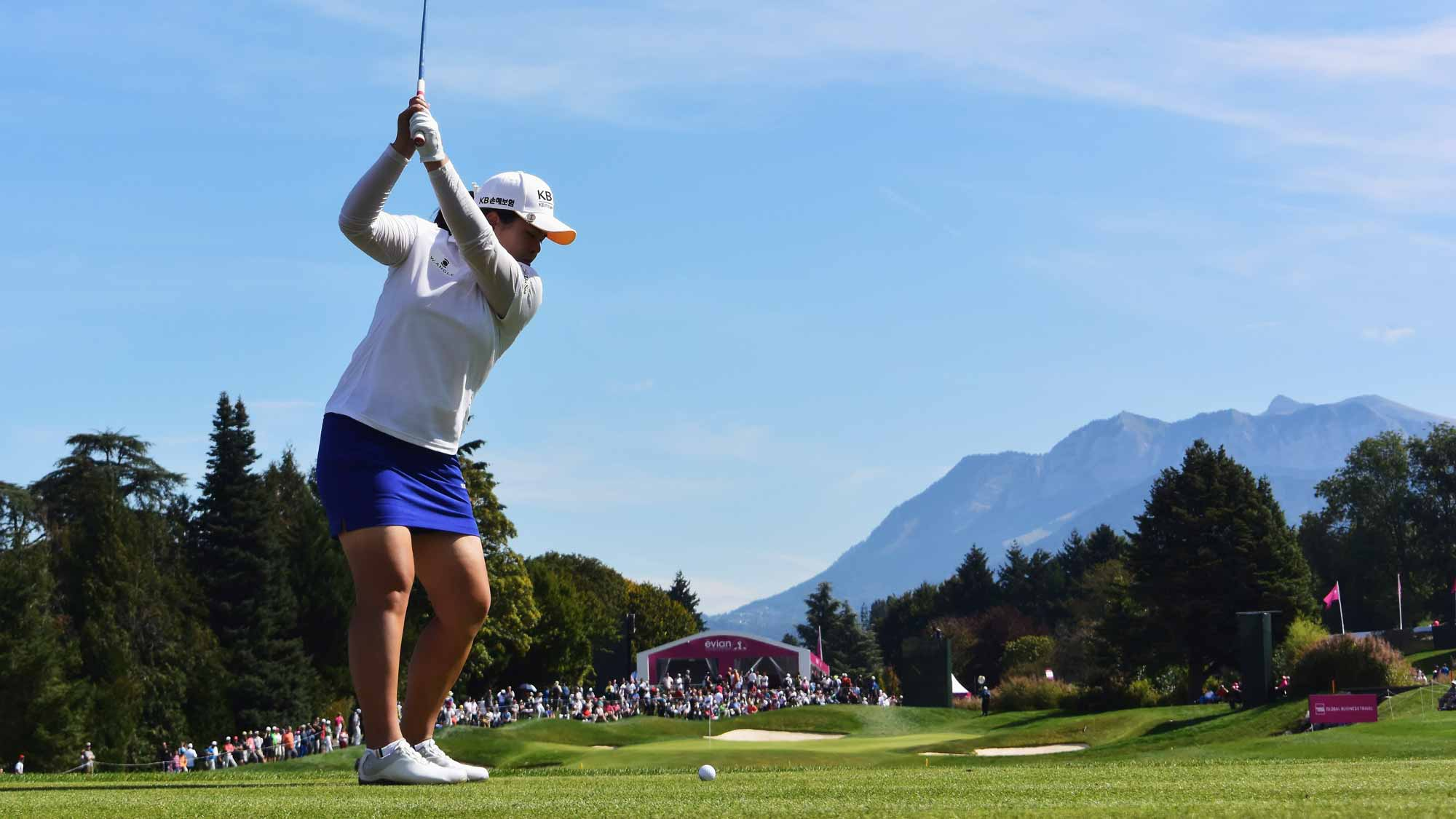 Inbee Park during the third round of the Evian Championship