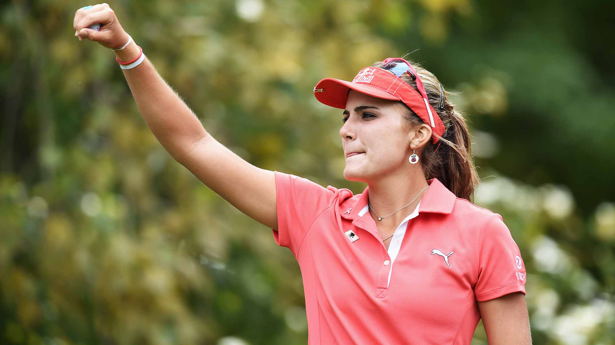 Lexi Thompson during the third round of the Evian Championship
