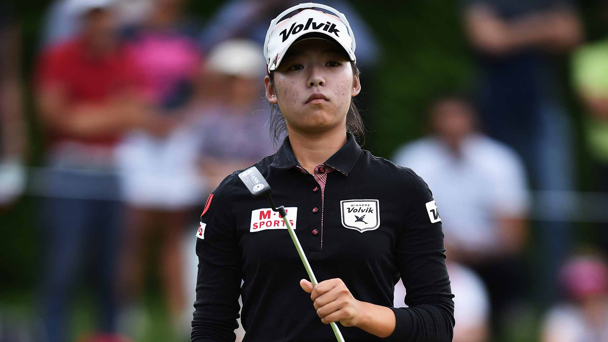 Mi Hyang Lee during the third round of the Evian Championship