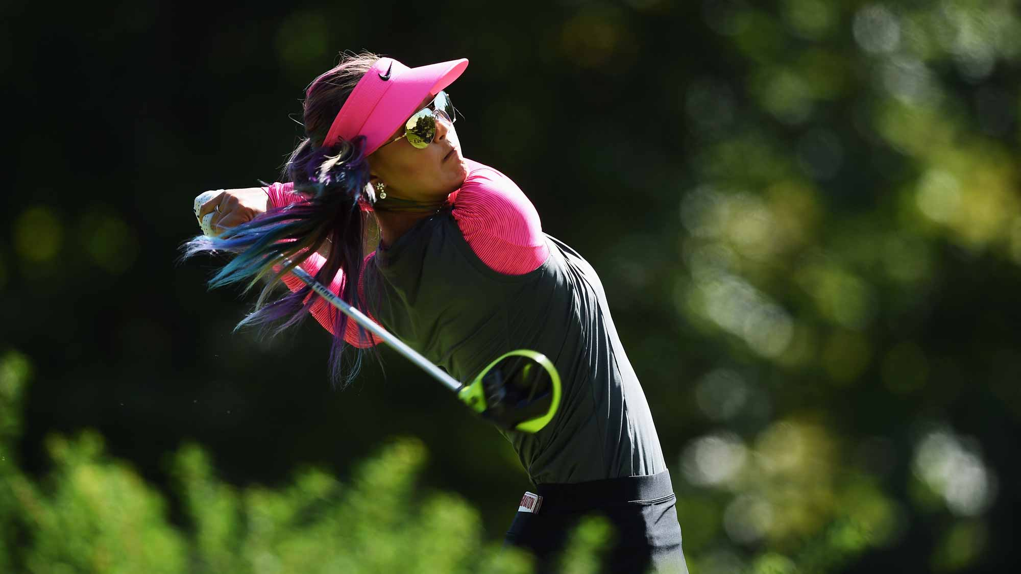 Michelle Wie during the third round of the Evian Championship