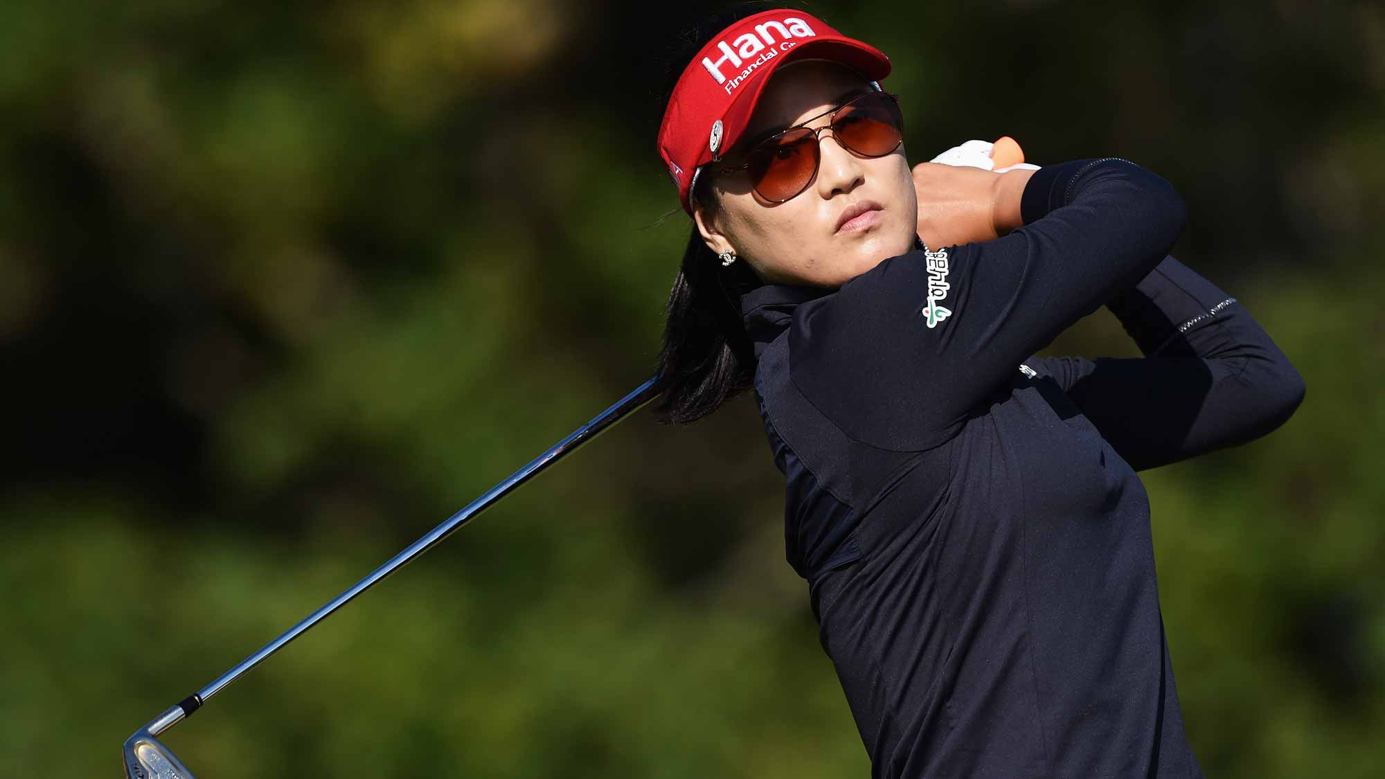 So Yeon Ryu during the third round of the Evian Championship Golf