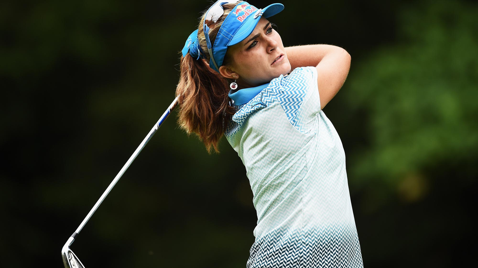 Lexi Thompson during the final round of the Evian Championship
