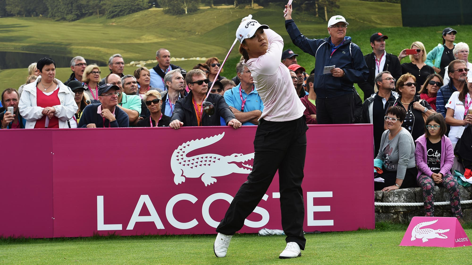 Lydia Ko during the final round of the Evian Championship